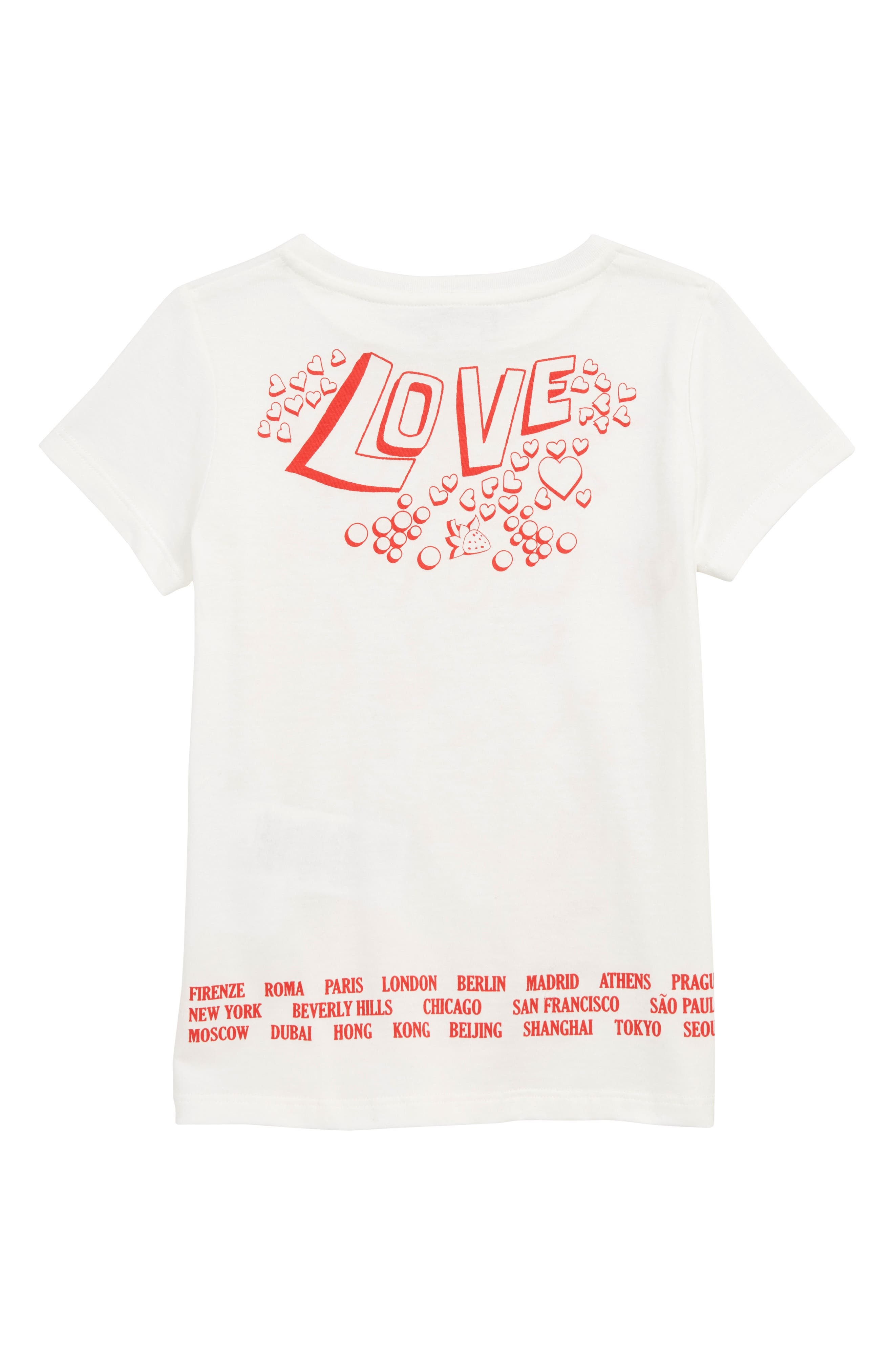 GUCCI,                             Graphic Tee,                             Alternate thumbnail 2, color,                             WHITE/ BRIGHT RED
