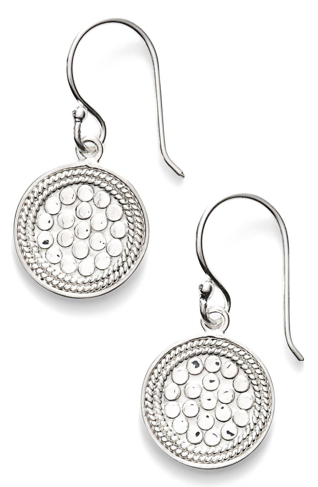 'Gili' Small Drop Earrings,                         Main,                         color, SILVER