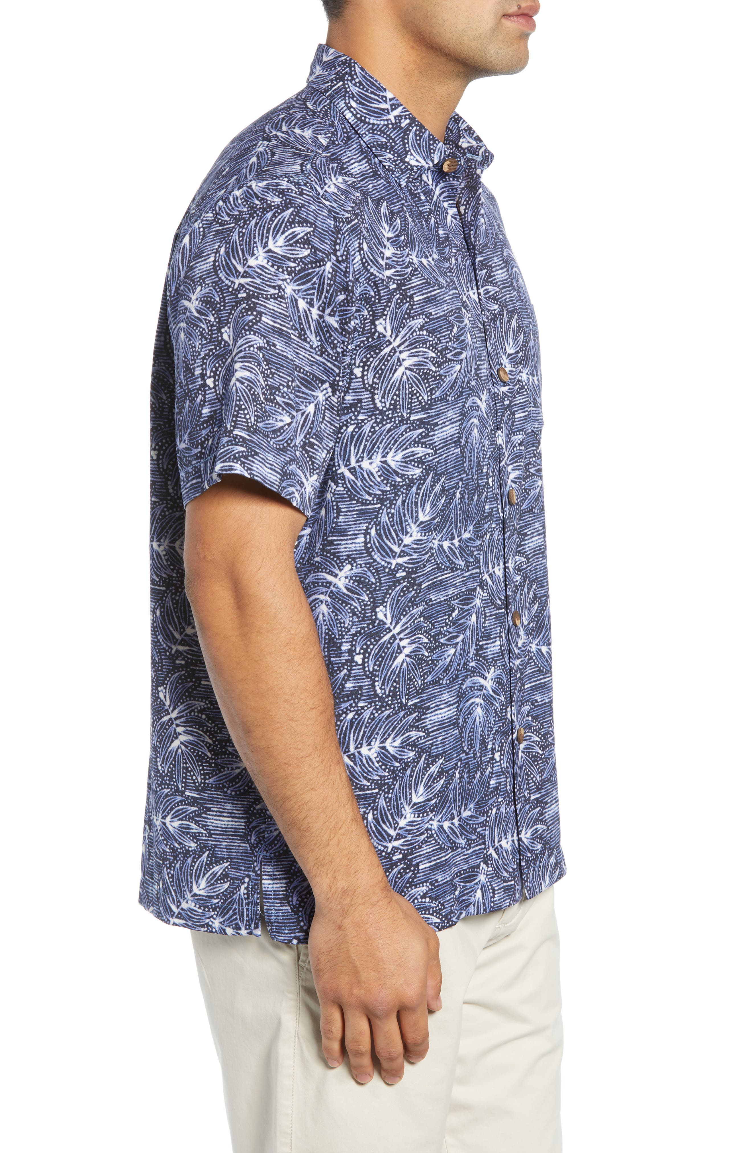 Bueno Batik Sport Shirt,                             Alternate thumbnail 3, color,                             BLUE JEAN