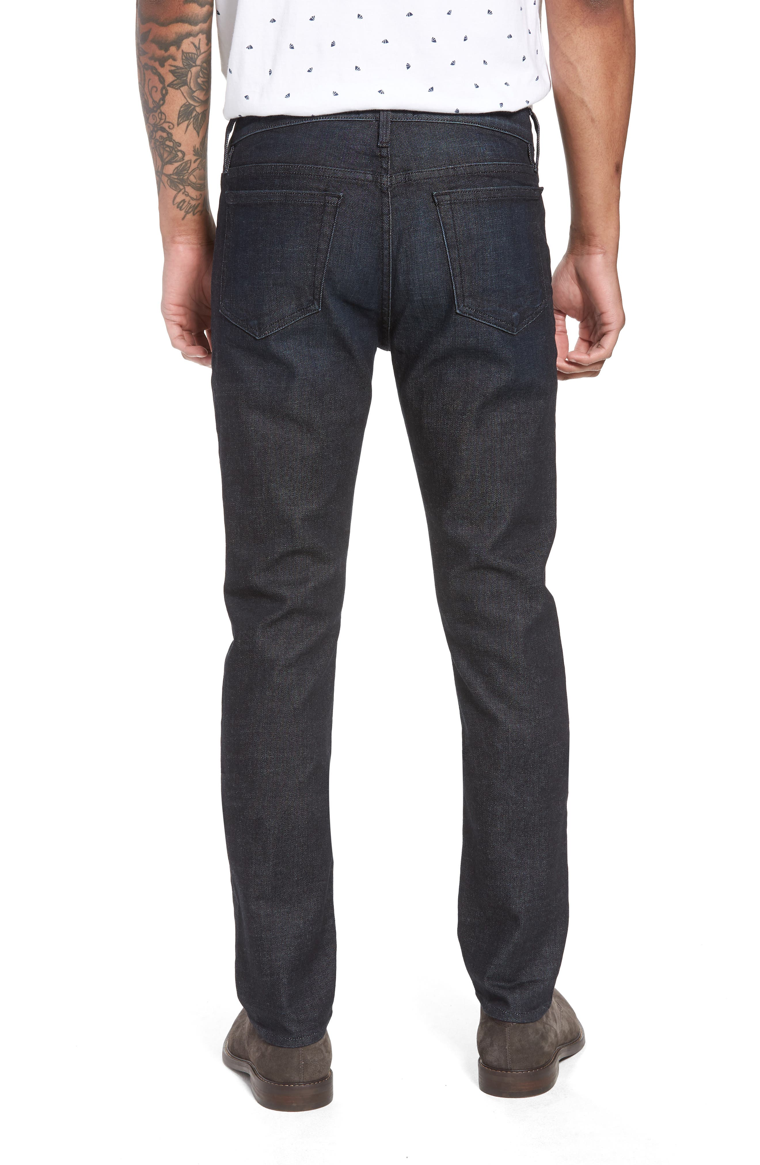 L'Homme Skinny Jeans,                             Alternate thumbnail 2, color,                             MANHATTAN