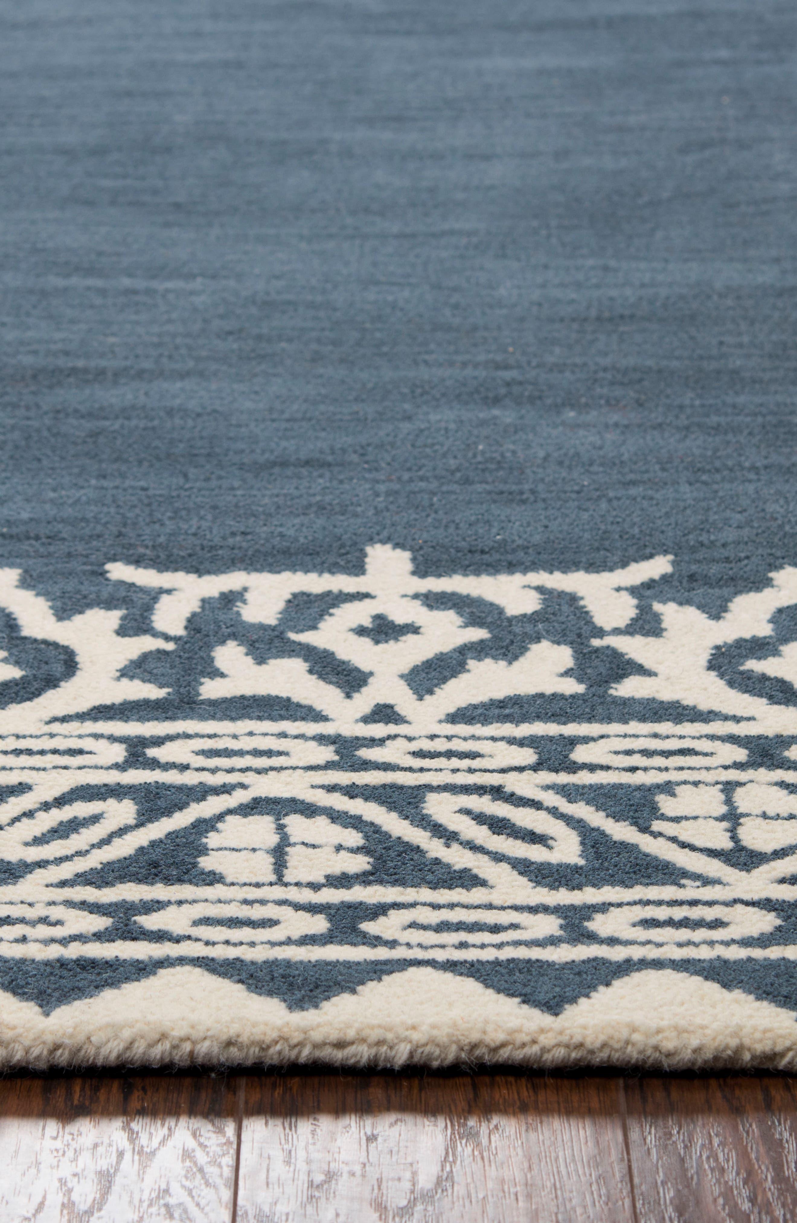 Framed Medallion Hand Tufted Wool Area Rug,                             Alternate thumbnail 4, color,                             400