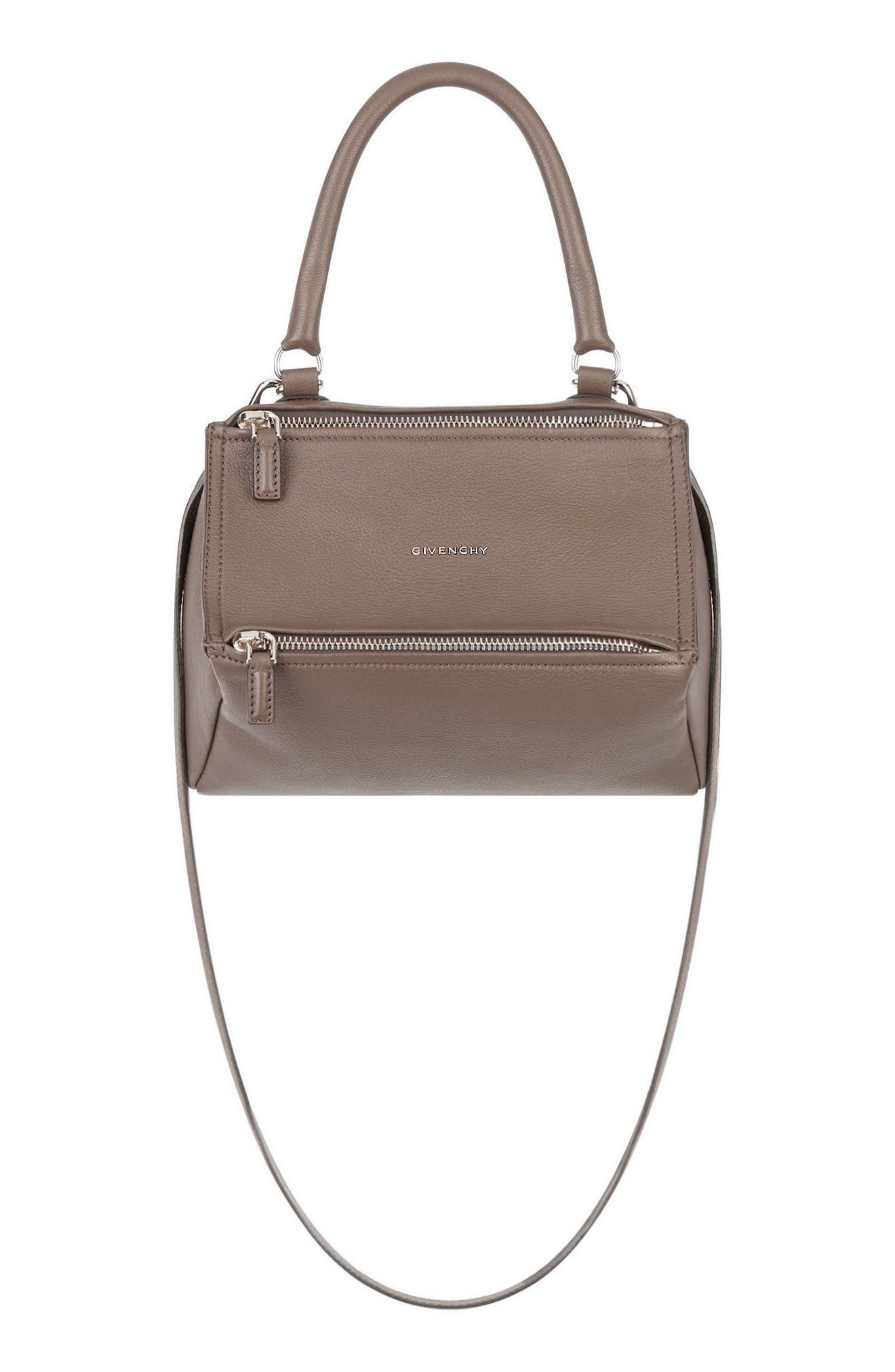 'Small Pandora' Leather Satchel,                         Main,                         color, HEATHER GREY