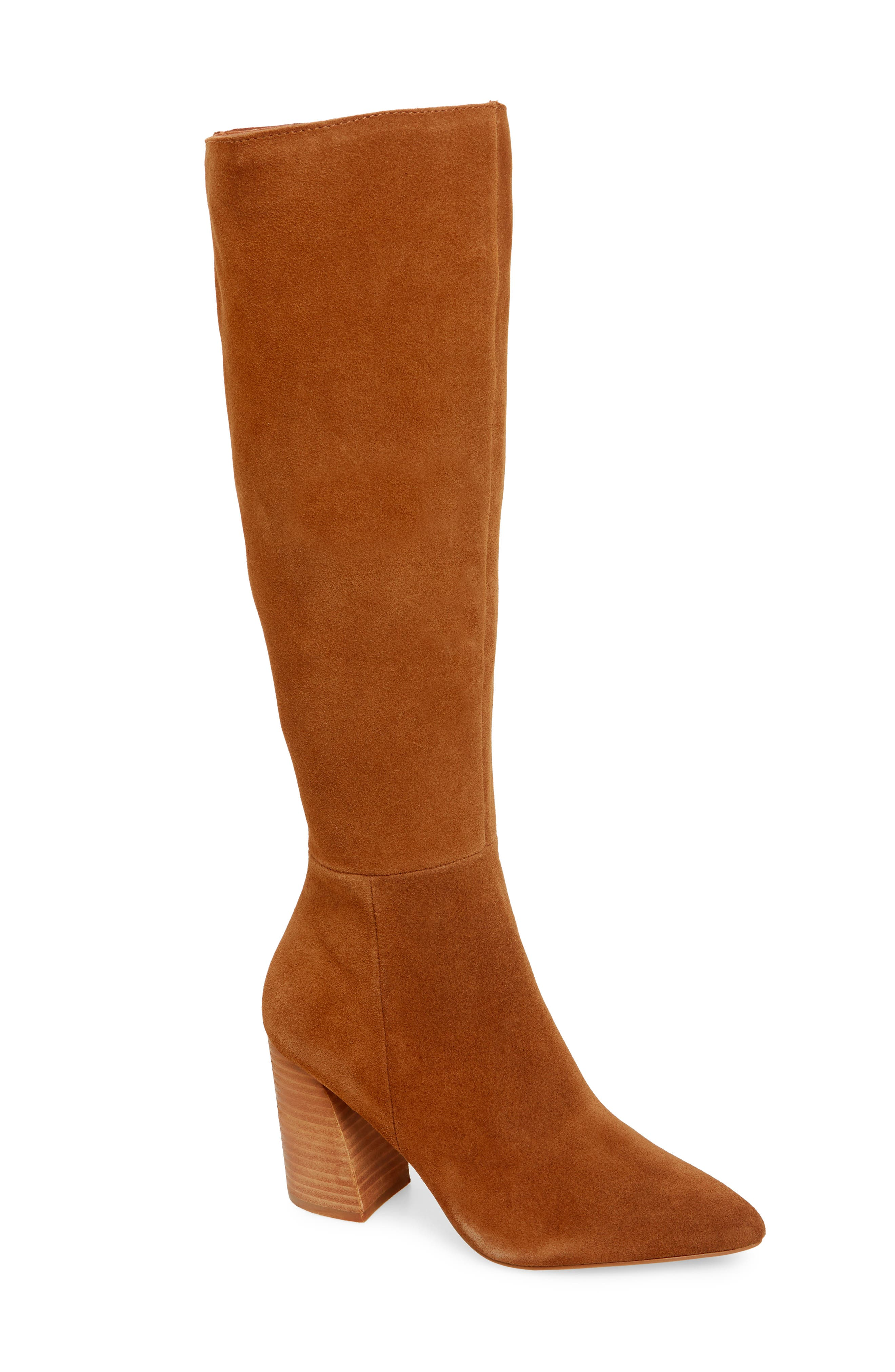 Serve Knee High Boot,                         Main,                         color, CHESTNUT SUEDE