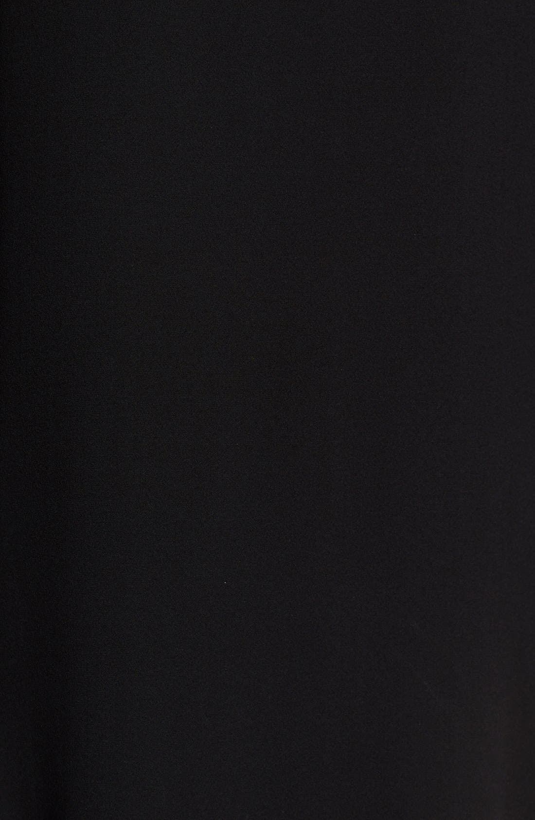 Bateau Neck Silk Crepe Tunic,                             Alternate thumbnail 5, color,                             001
