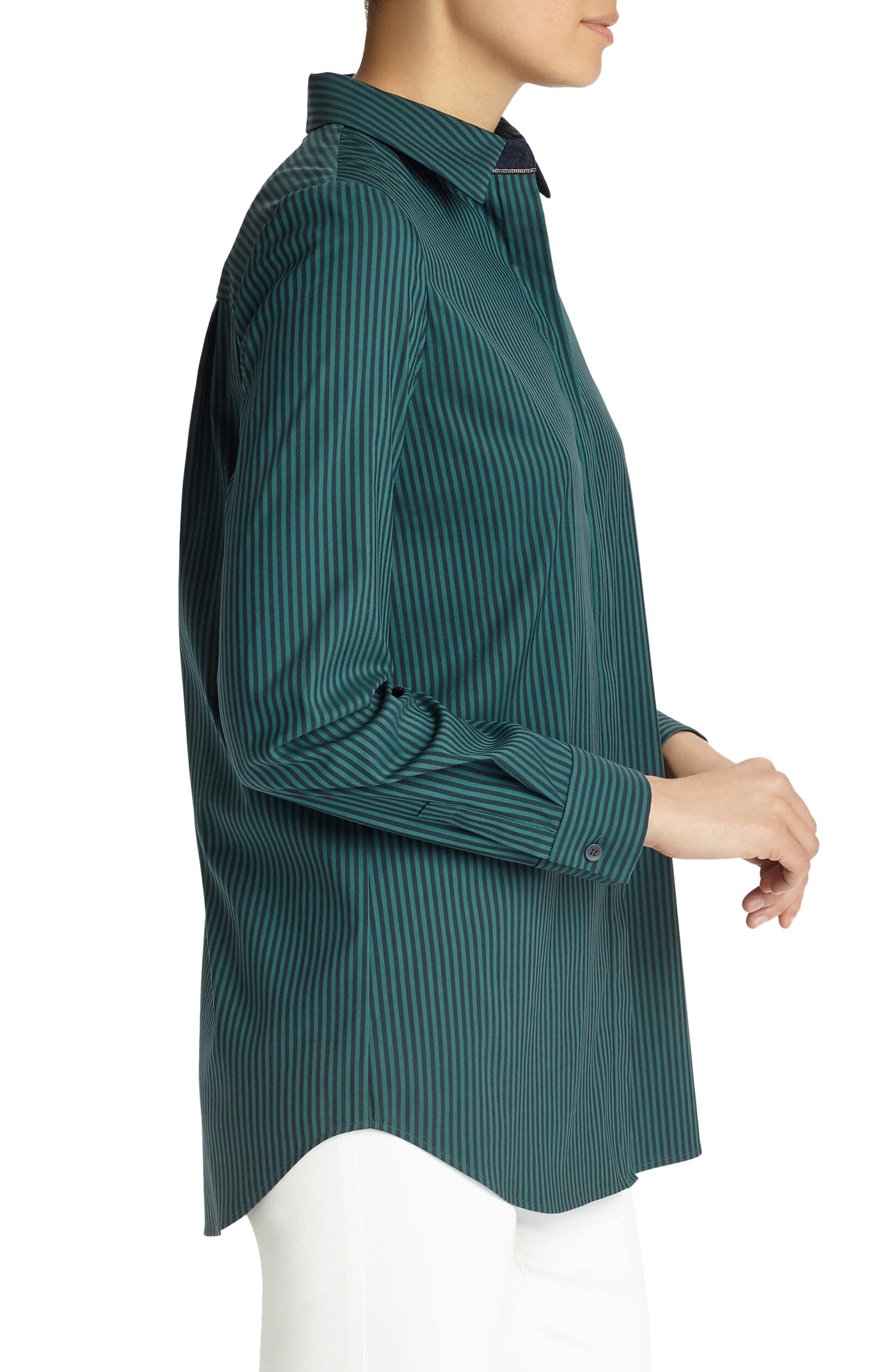'Brody - Palace Stripe' Blouse,                             Alternate thumbnail 3, color,                             349