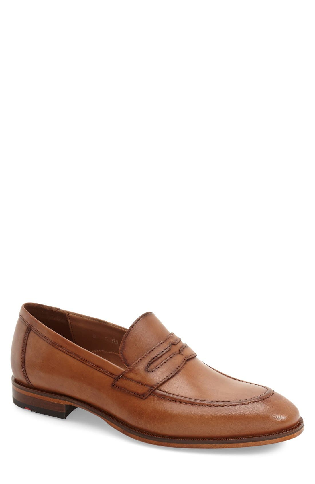 'Pete' Penny Loafer,                         Main,                         color, COGNAC