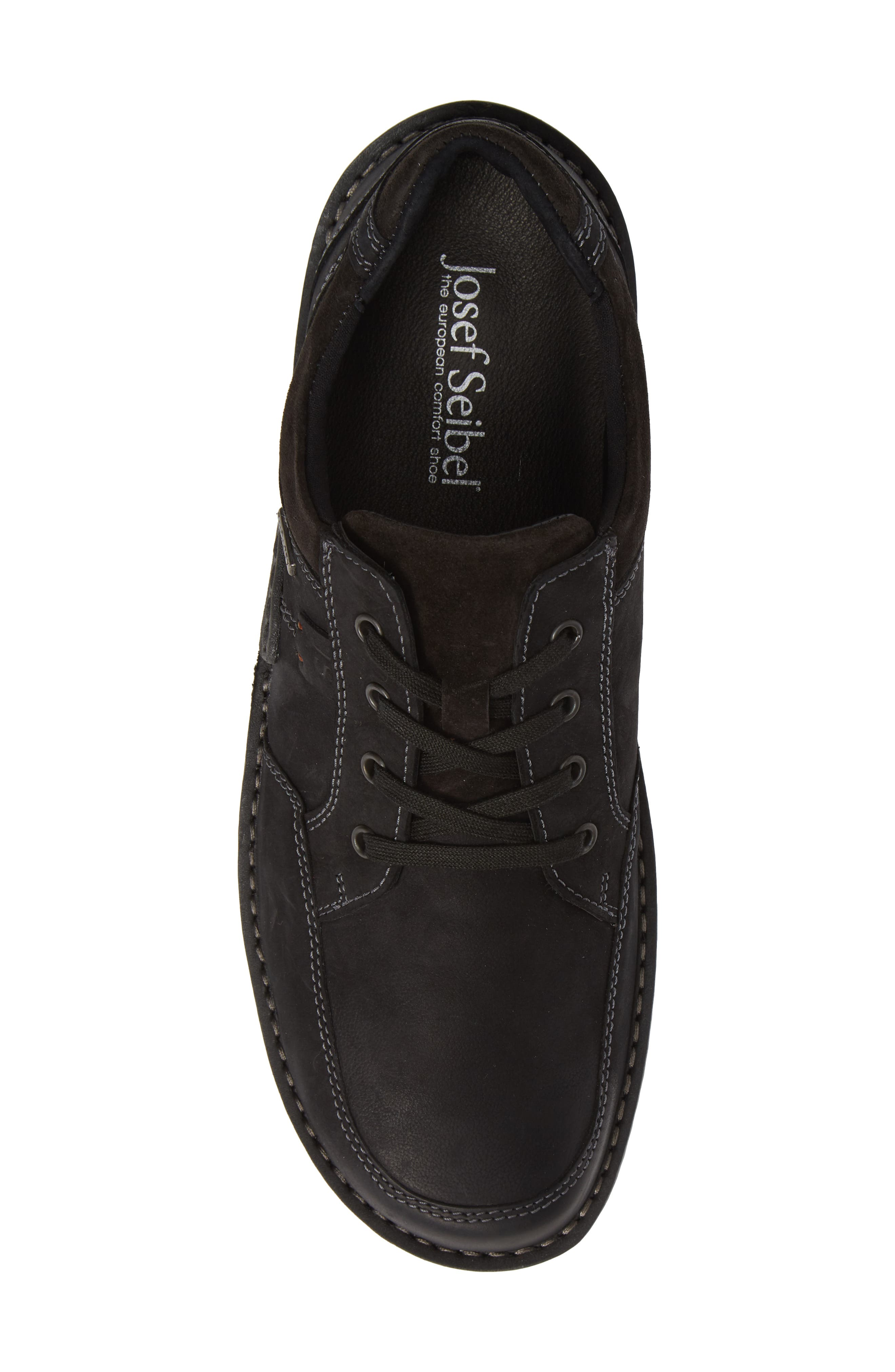 JOSEF SEIBEL,                             Willow 33 Sneaker,                             Alternate thumbnail 5, color,                             BLACK LEATHER