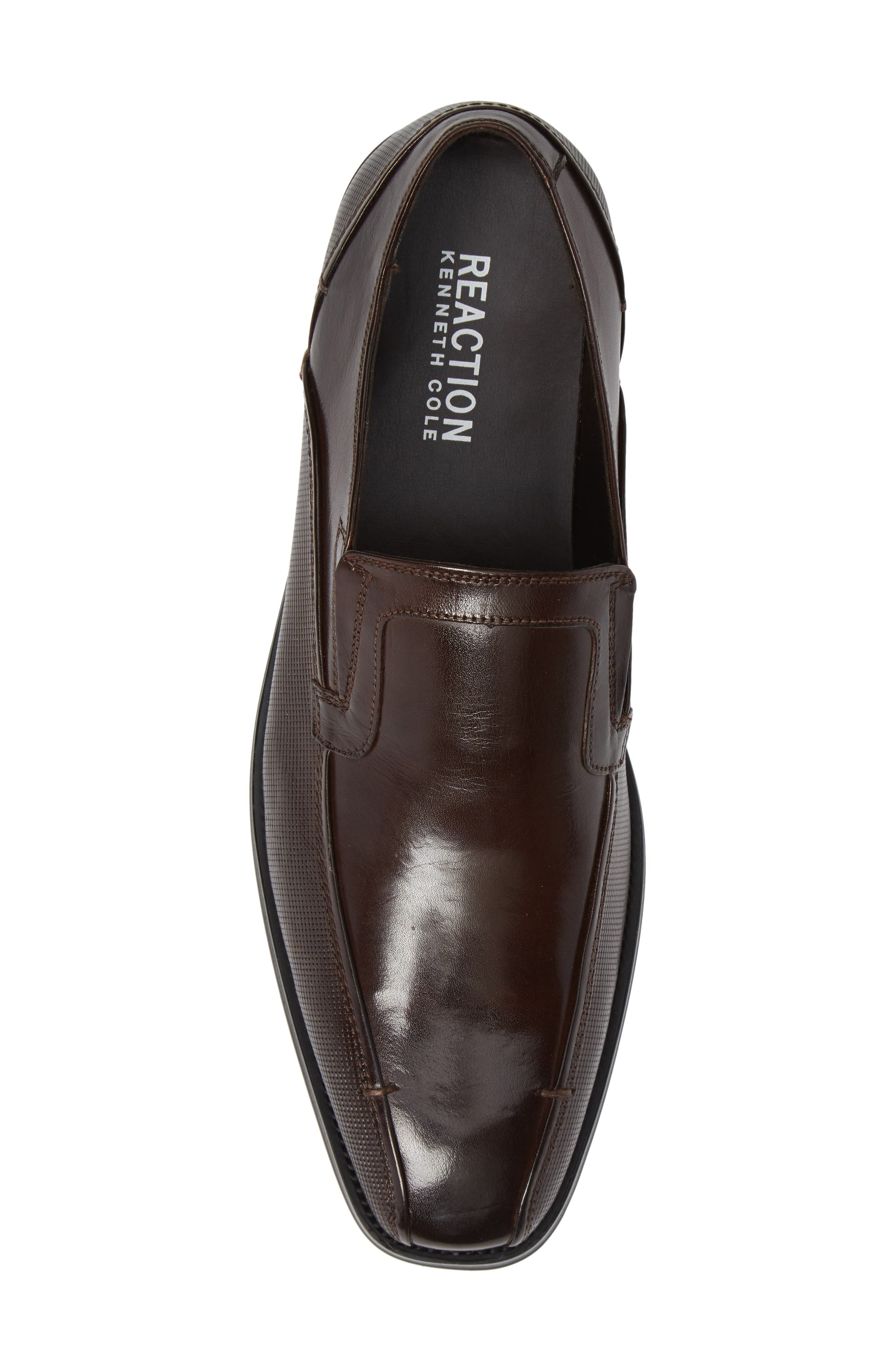 Witter Bike Toe Loafer,                             Alternate thumbnail 5, color,                             BROWN LEATHER