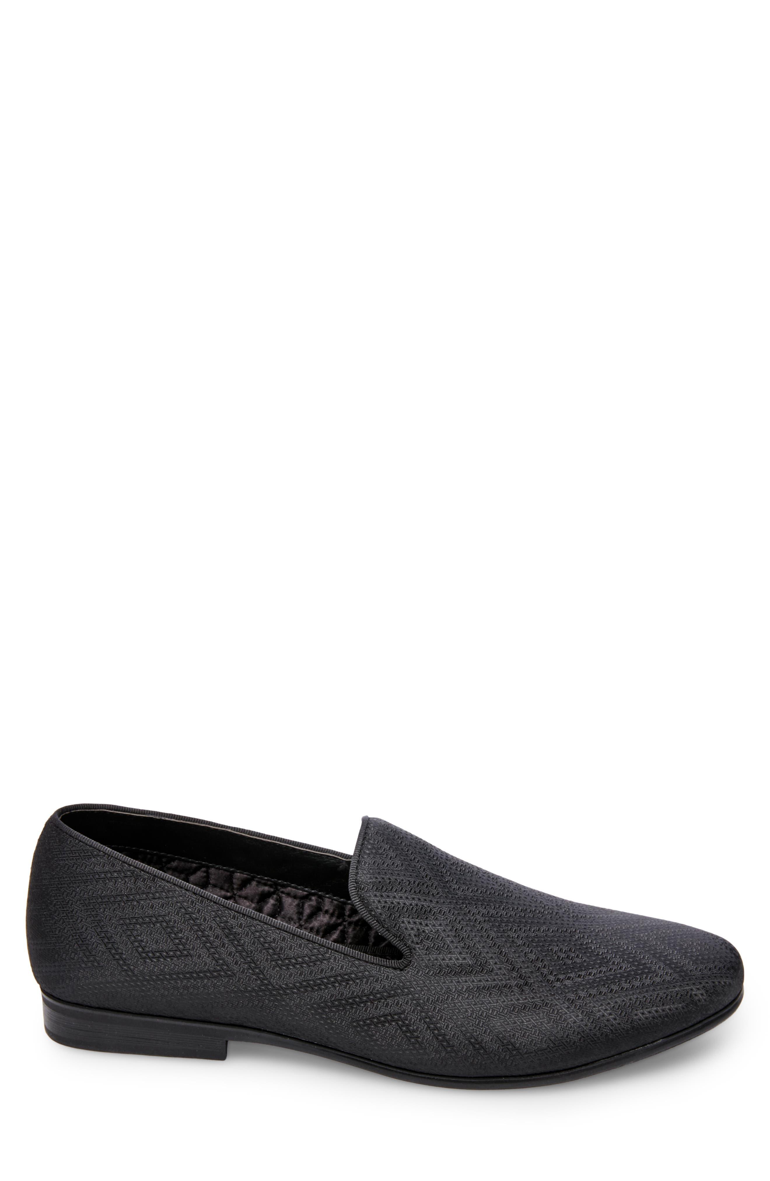 Chevron Slip-On Loafer,                             Alternate thumbnail 3, color,                             009