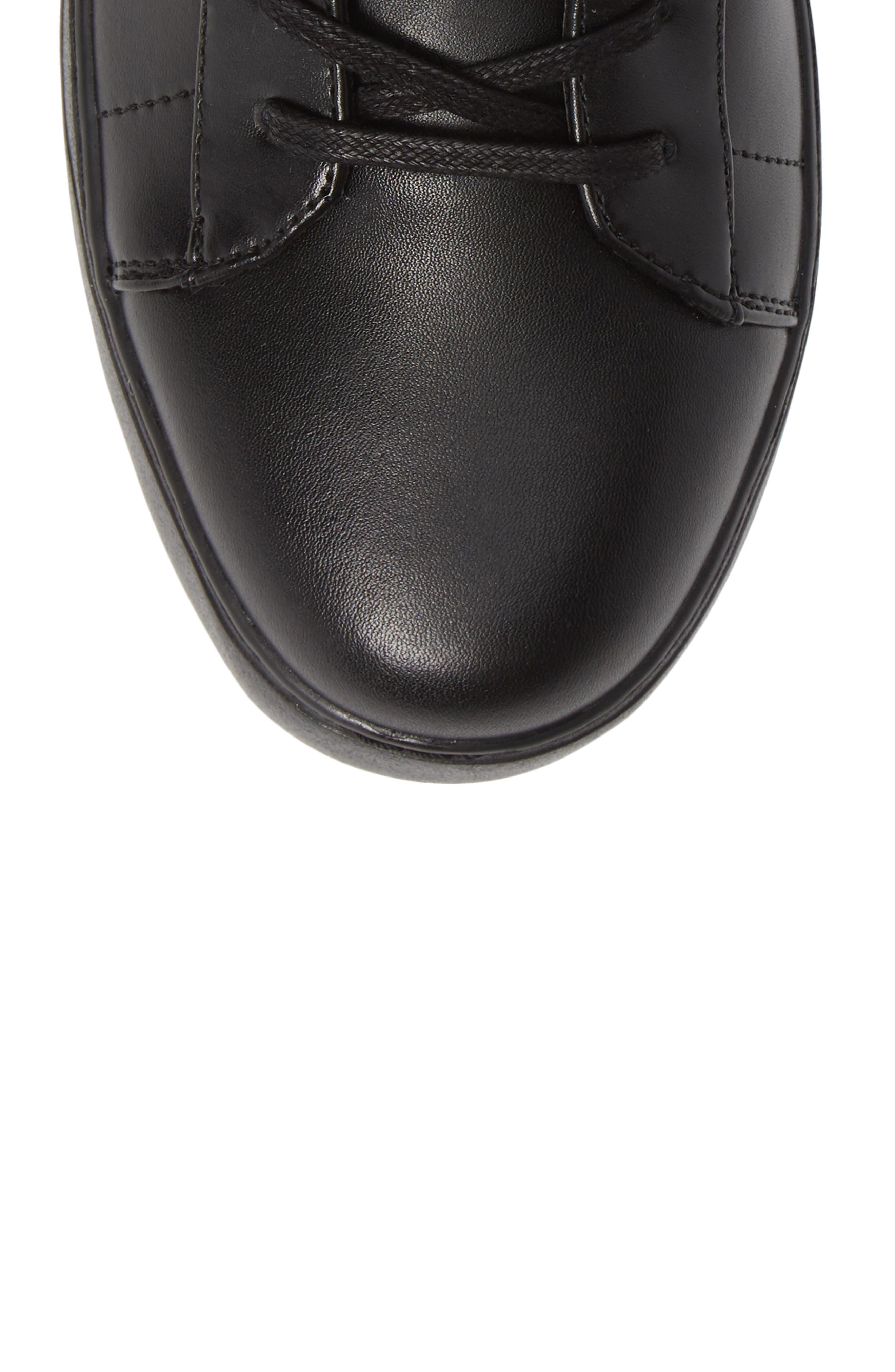 Salvador High Top Sneaker,                             Alternate thumbnail 5, color,                             BLACK/ BLACK LEATHER