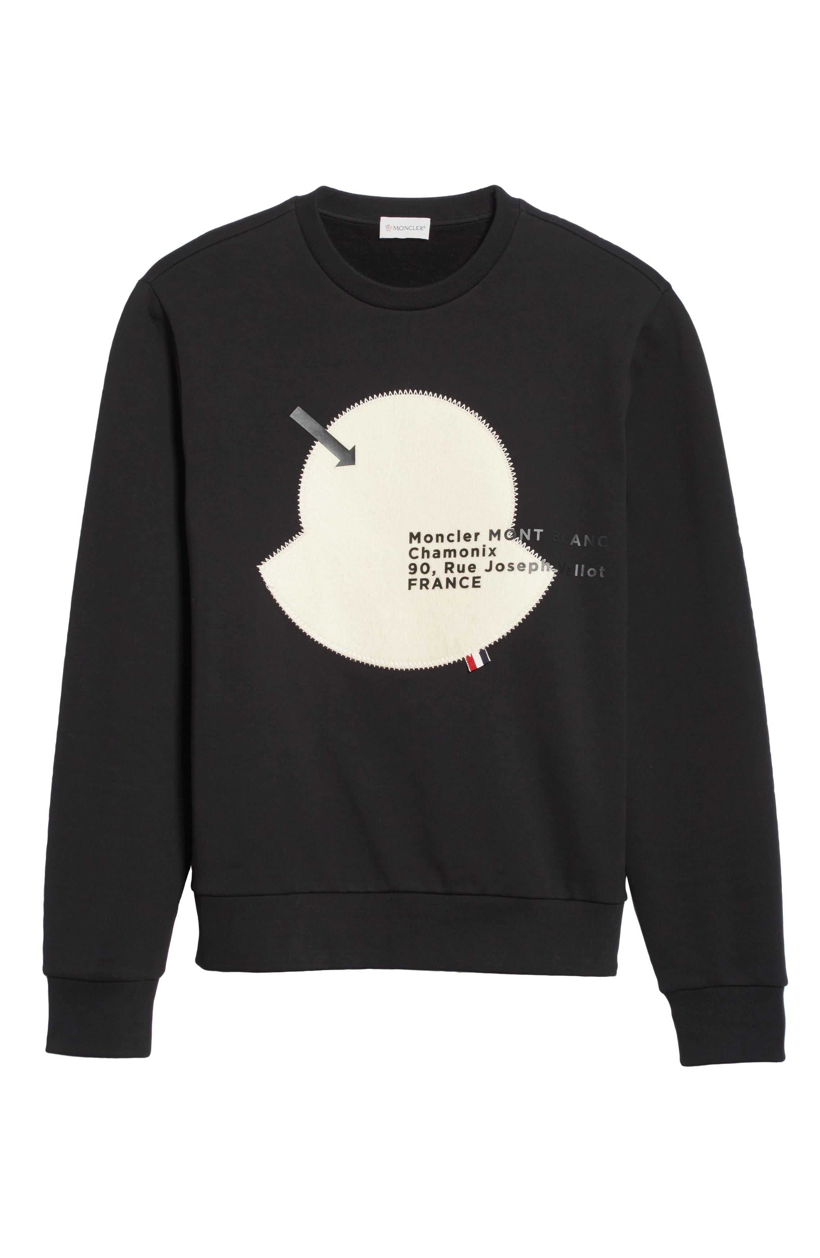 Maglia Big Bell Crewneck Sweatshirt,                             Alternate thumbnail 6, color,                             BLACK