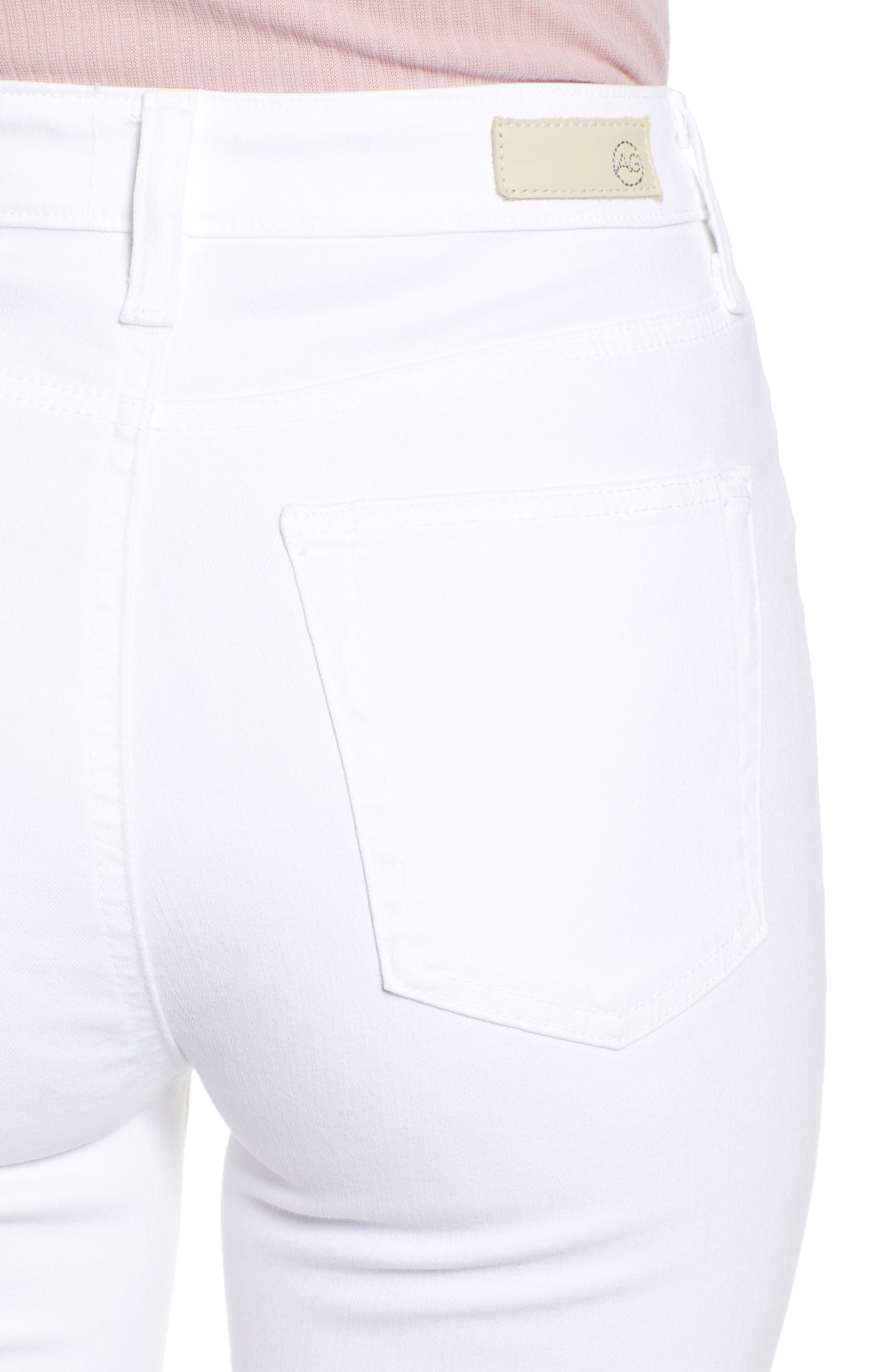 AG,                             The Mila Super High Waist Ankle Skinny Jeans,                             Alternate thumbnail 5, color,                             110