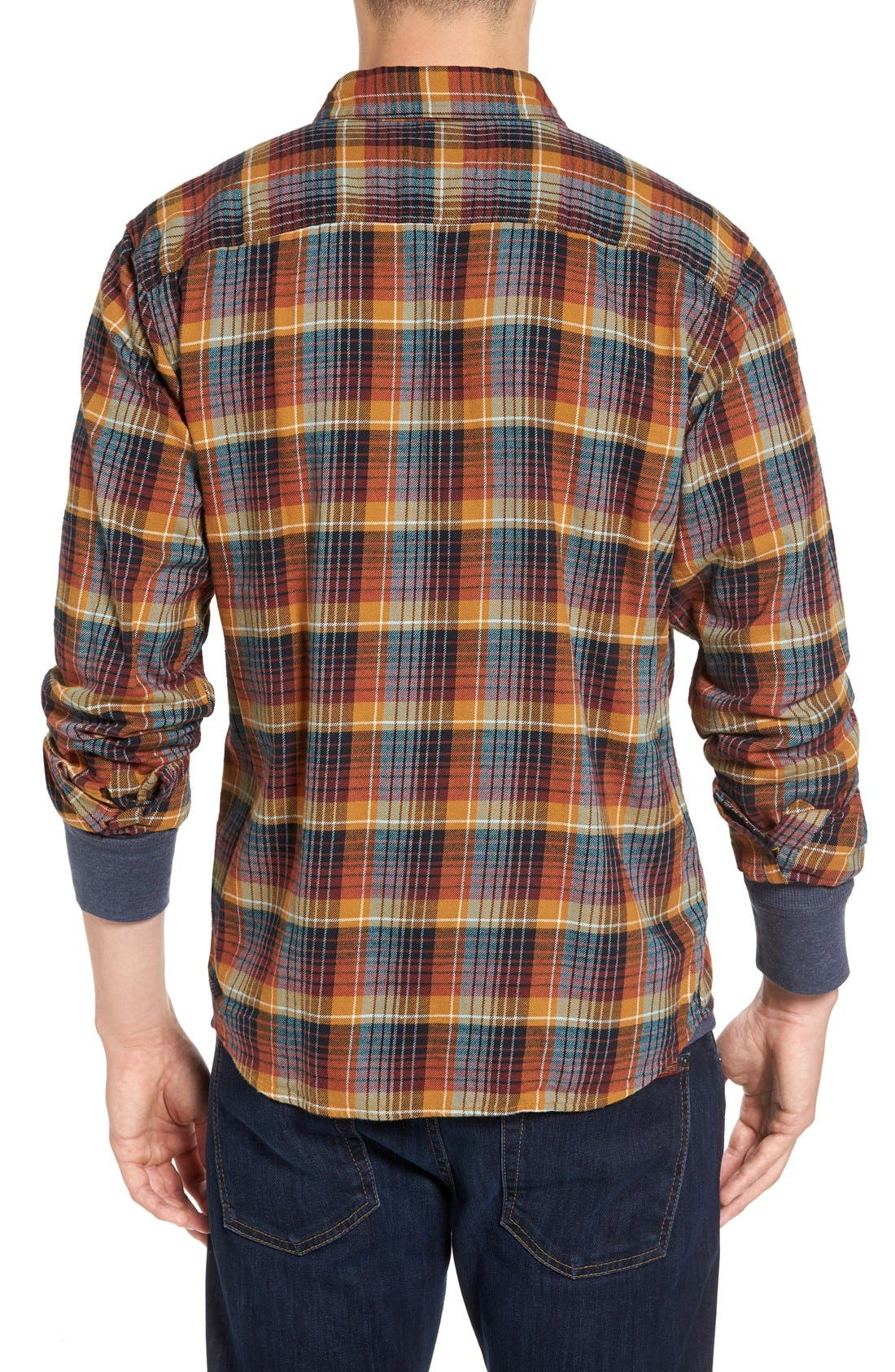 Regular Fit Organic Cotton Flannel Shirt,                             Alternate thumbnail 22, color,