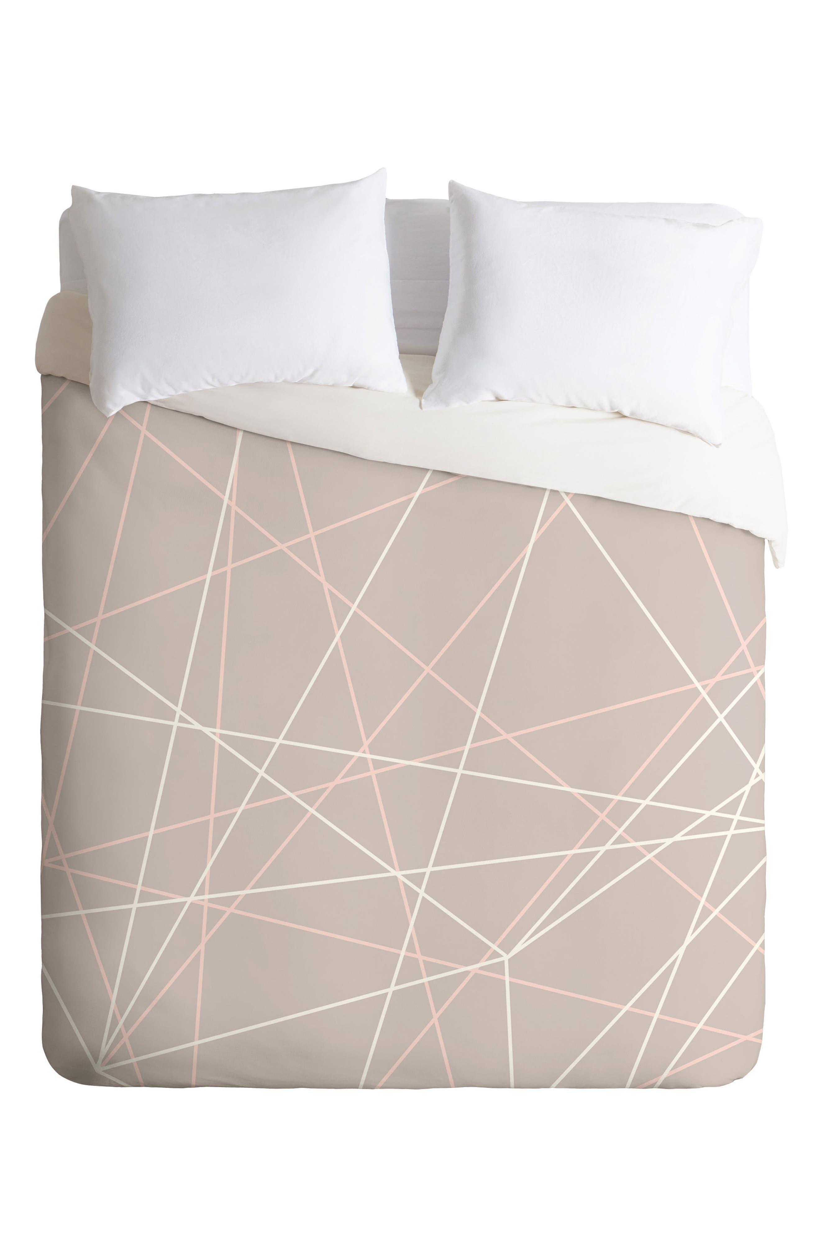 Pastel Lines Duvet Cover & Sham Set,                         Main,                         color,