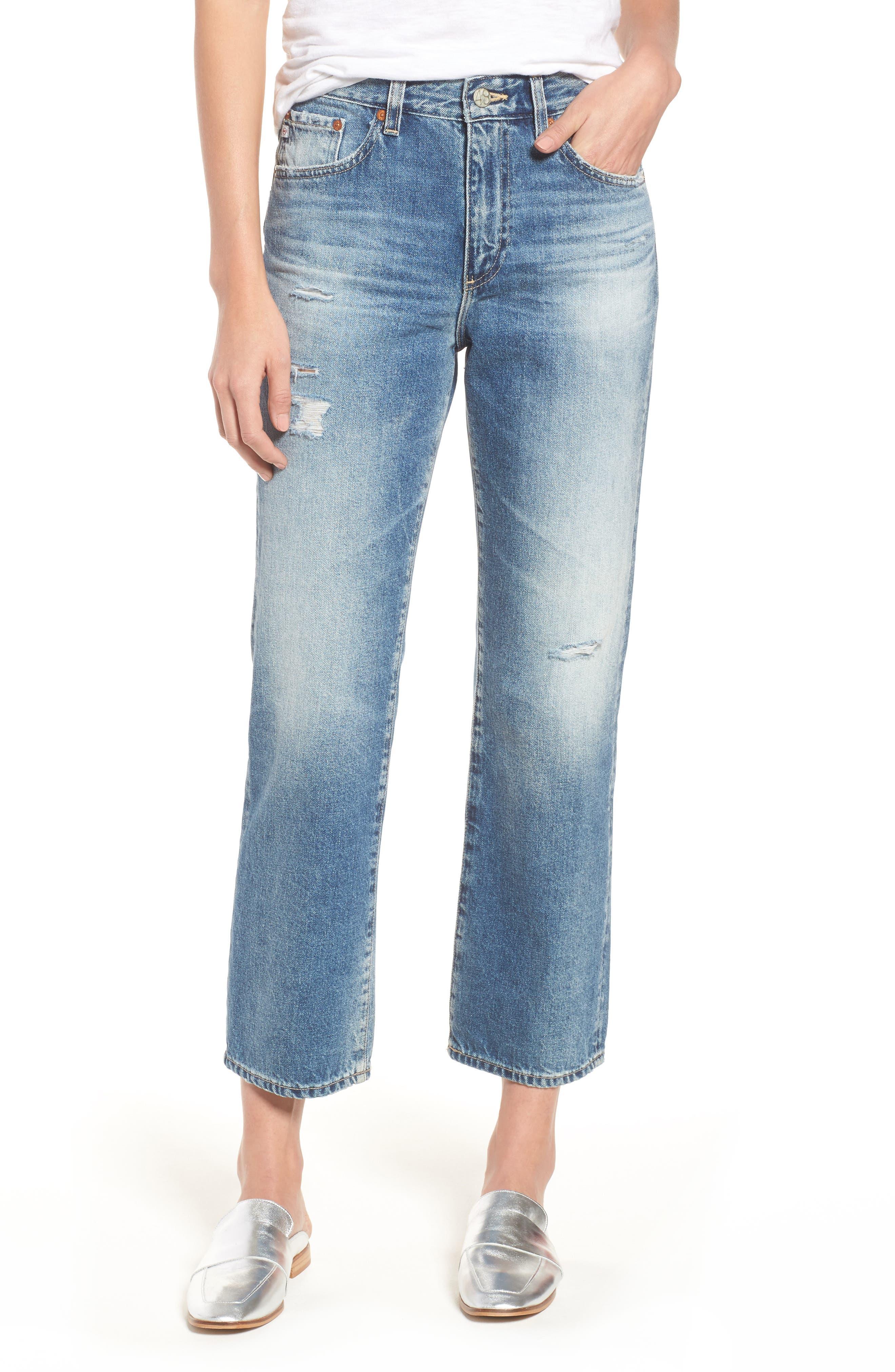 The Rhett Vintage High Waist Crop Jeans,                             Main thumbnail 3, color,