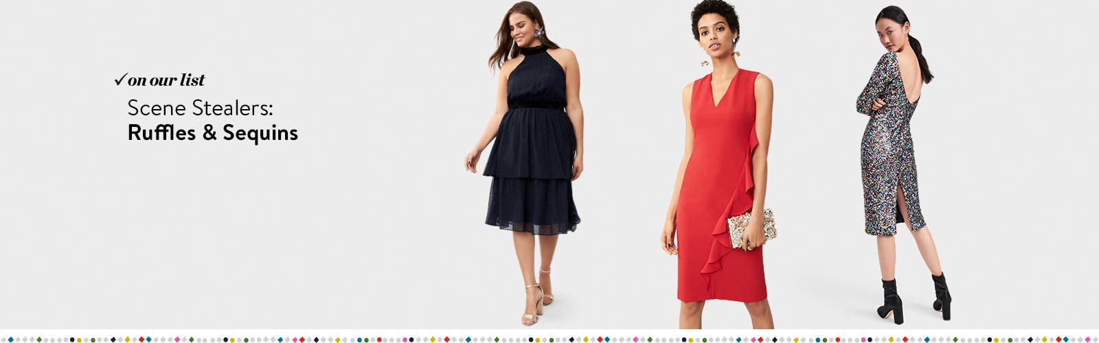 Womens sequined dresses nordstrom scene stealers ruffles and sequins ombrellifo Choice Image