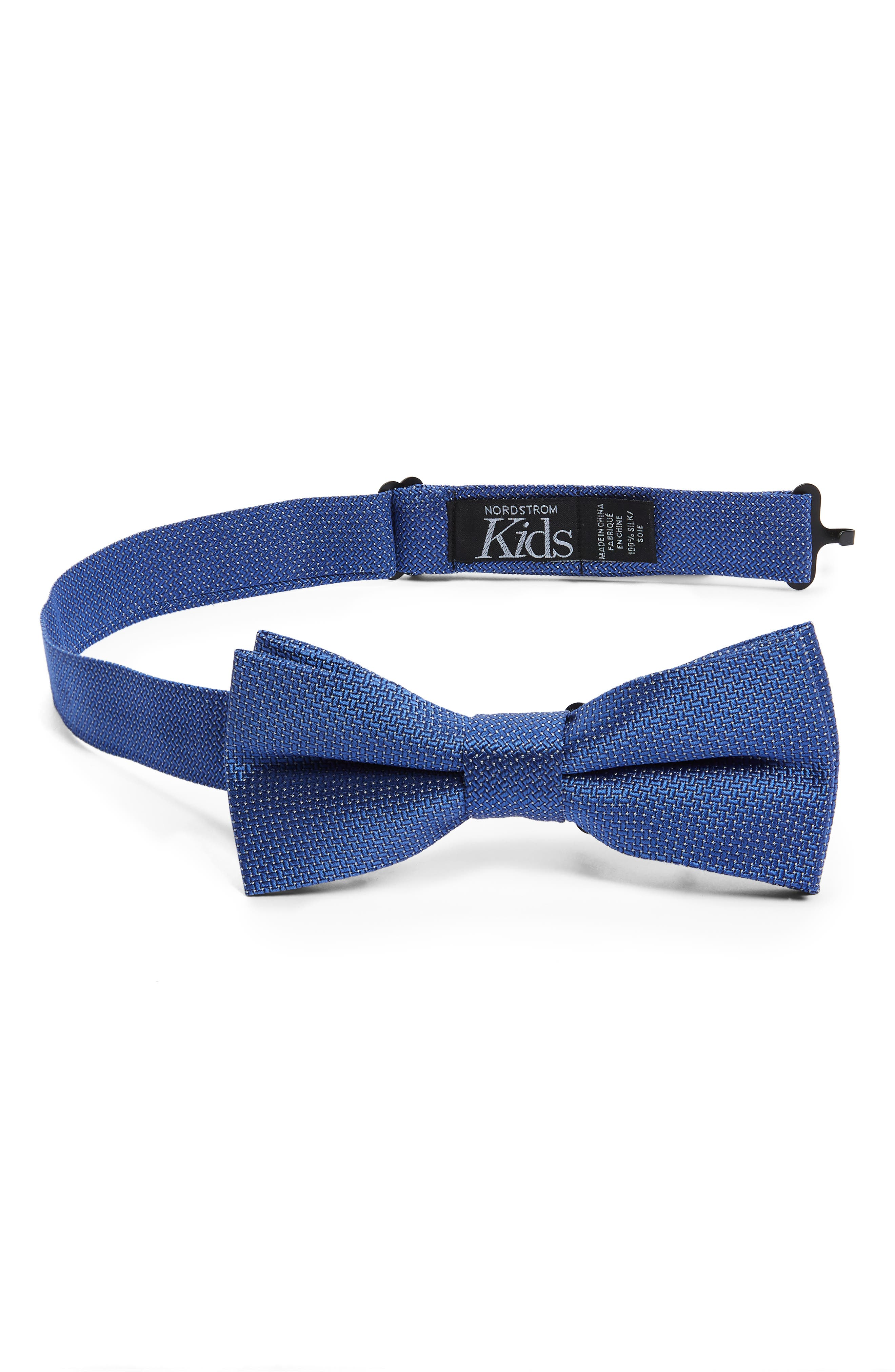 NORDSTROM Theodore Silk Bow Tie, Main, color, BLUE