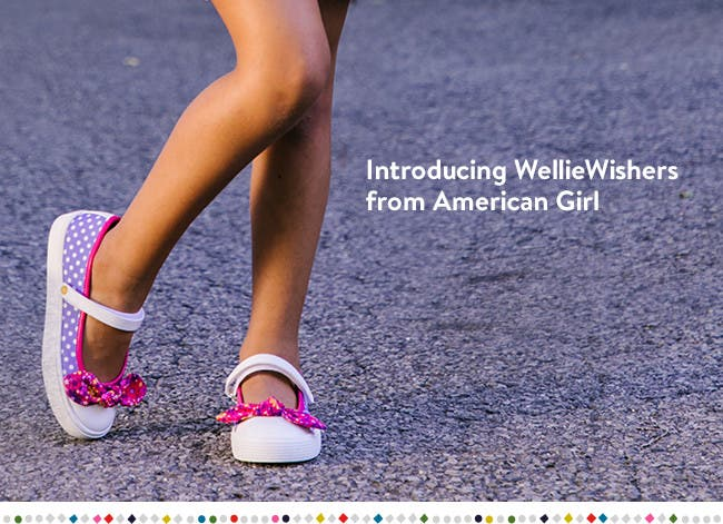 Introducing American Girl WellieWishers Shoes.