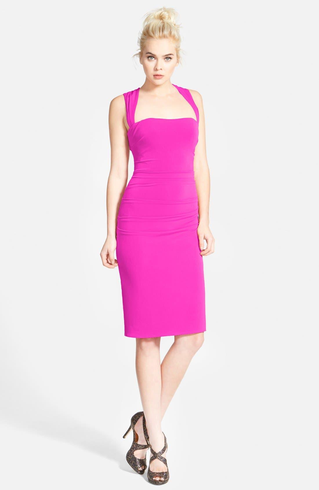 Twist Back Jersey Body-Con Dress,                             Main thumbnail 7, color,
