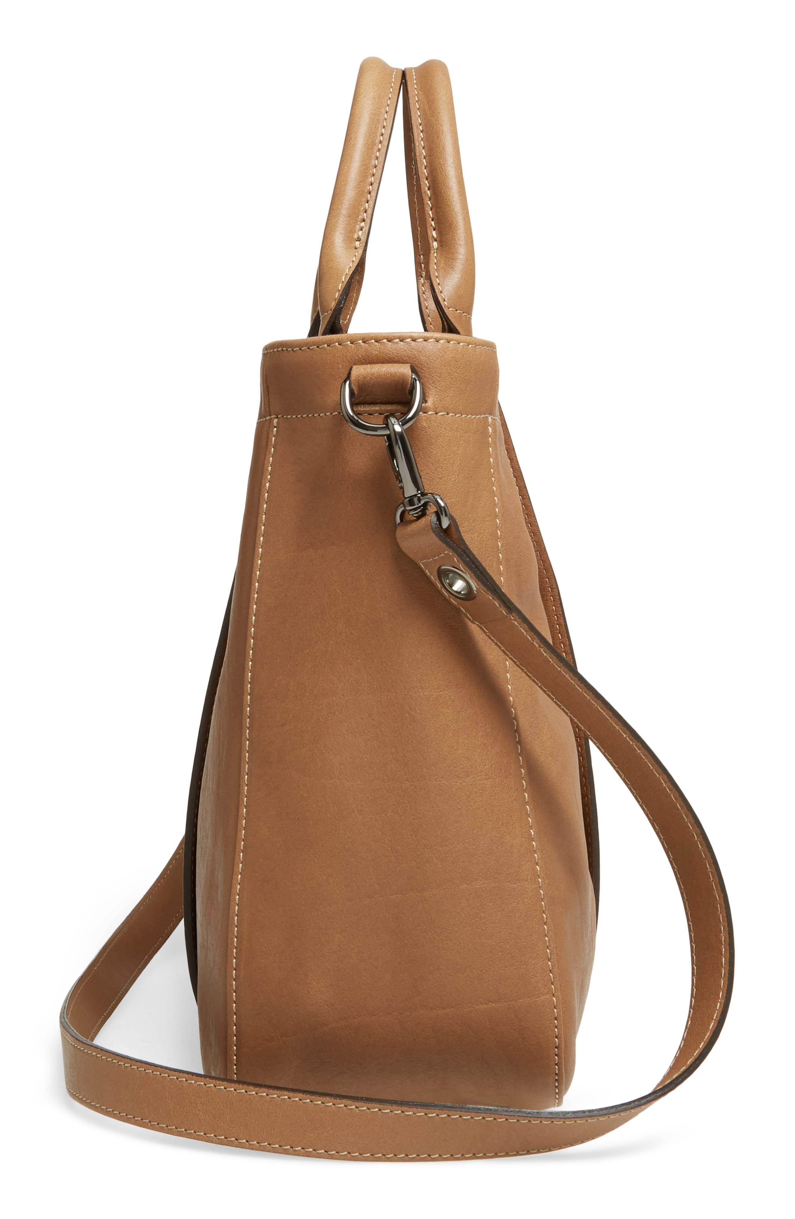 3D Leather Tote,                             Alternate thumbnail 5, color,                             250