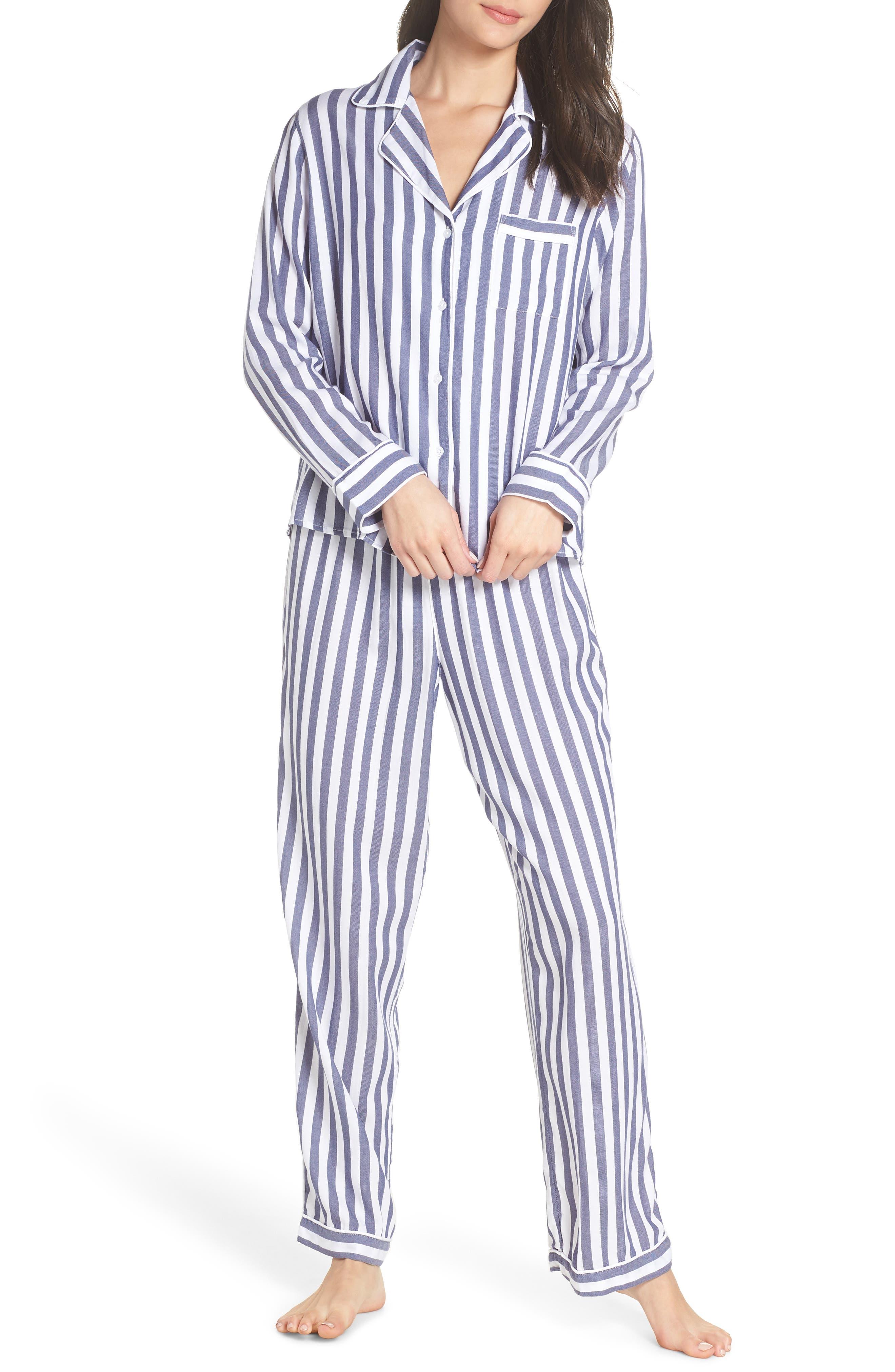 Stripe Pajamas,                             Main thumbnail 1, color,                             ALBANY STRIPE