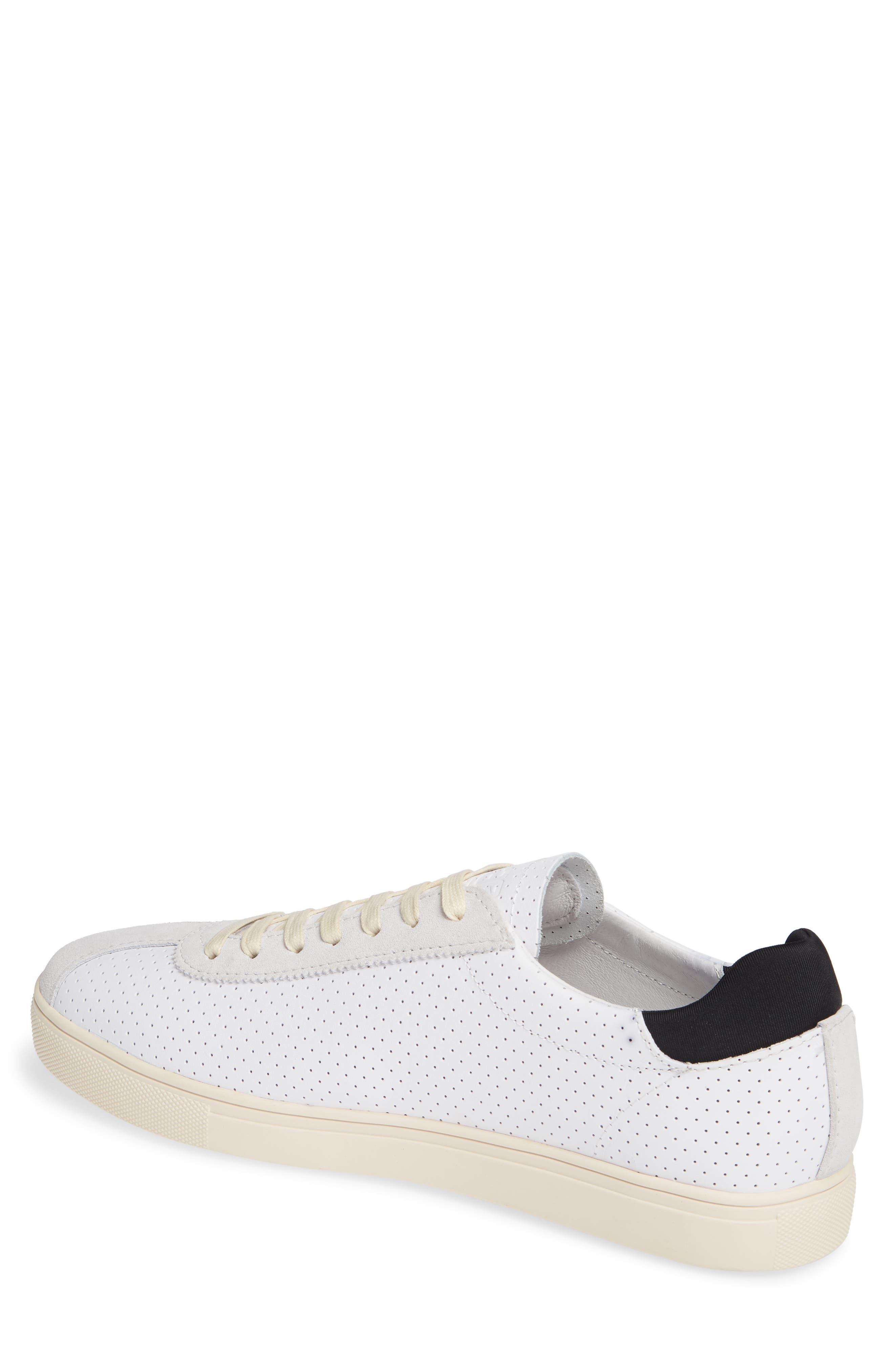 Noah Sneaker,                             Alternate thumbnail 2, color,                             WHITE LEATHER SUEDE CREAM