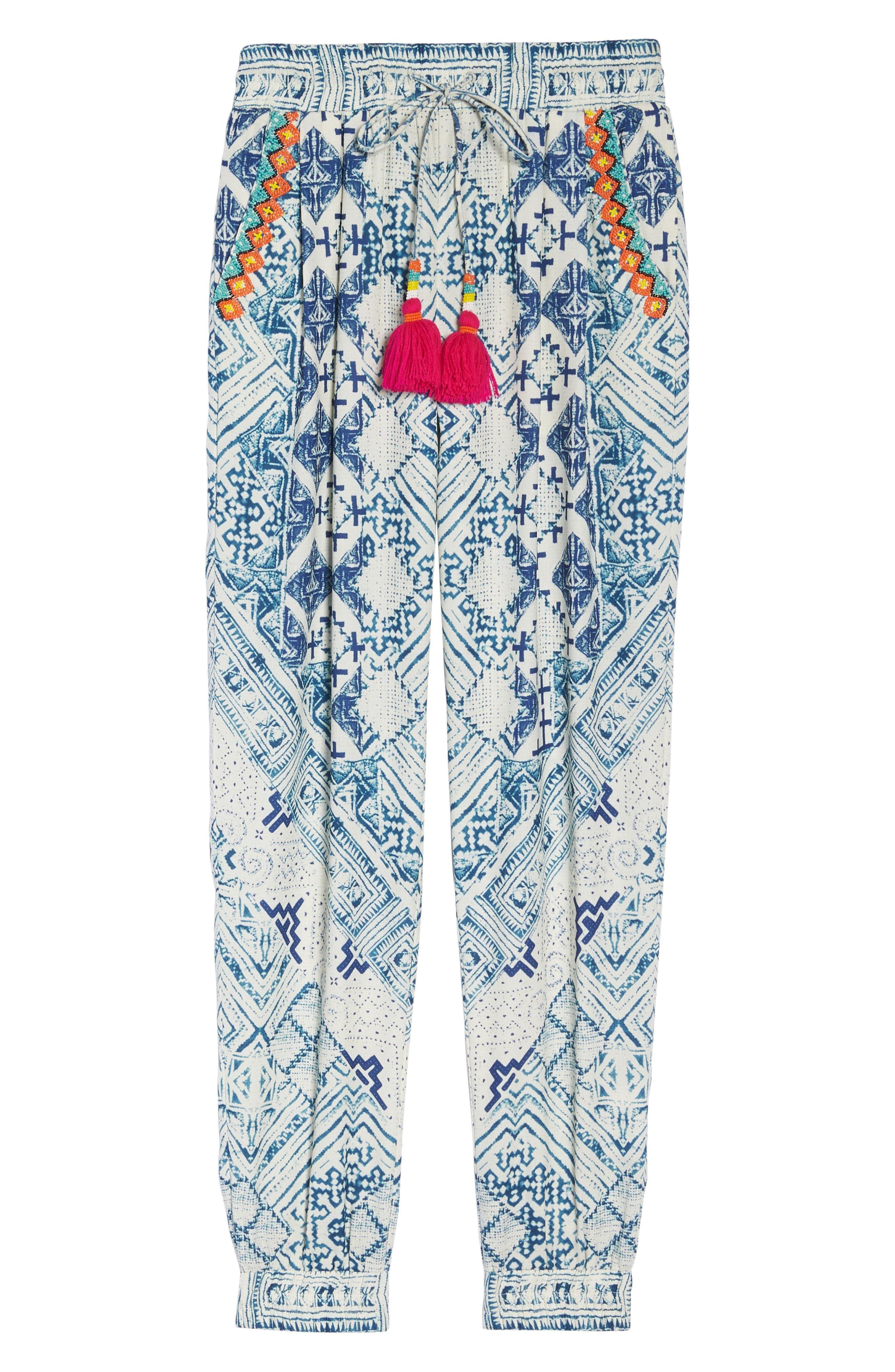 Hemant & Nandita Tasseled Cover-Up Pants,                             Alternate thumbnail 6, color,                             405
