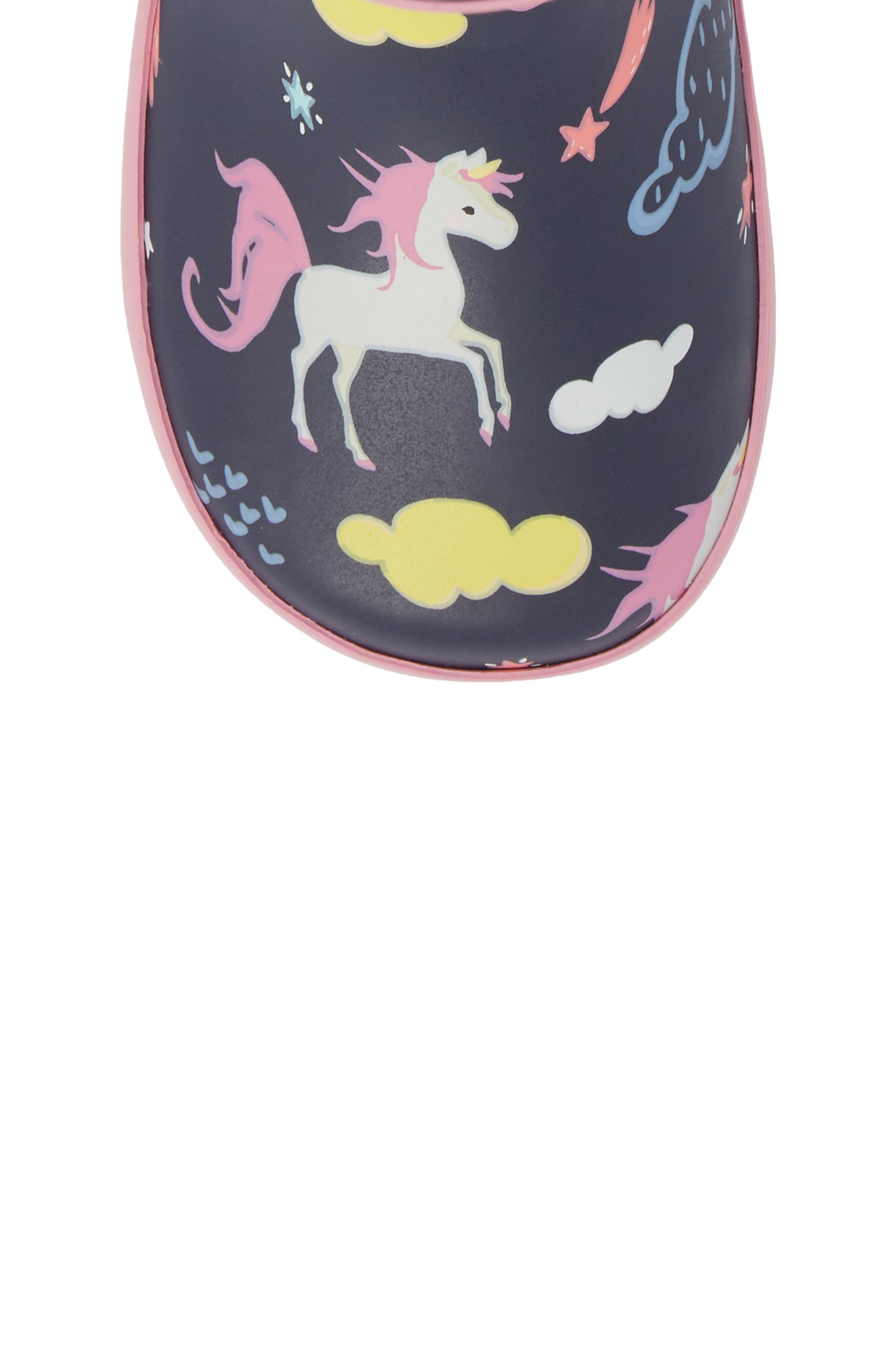 Unicorn Play Waterproof Rain Boot,                             Alternate thumbnail 5, color,                             421
