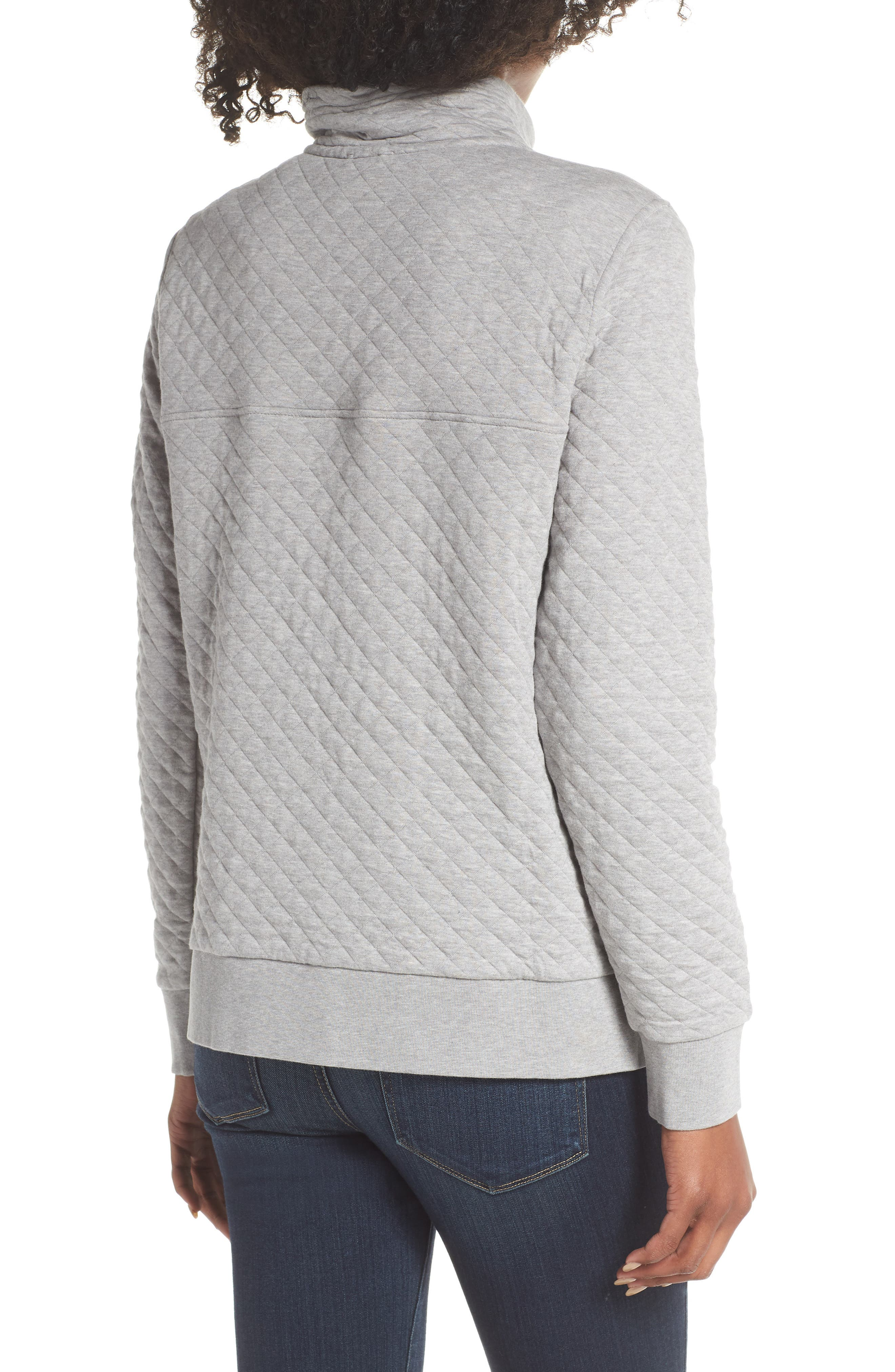 Snap-T<sup>®</sup> Quilted Pullover,                             Alternate thumbnail 2, color,                             DRIFT GREY