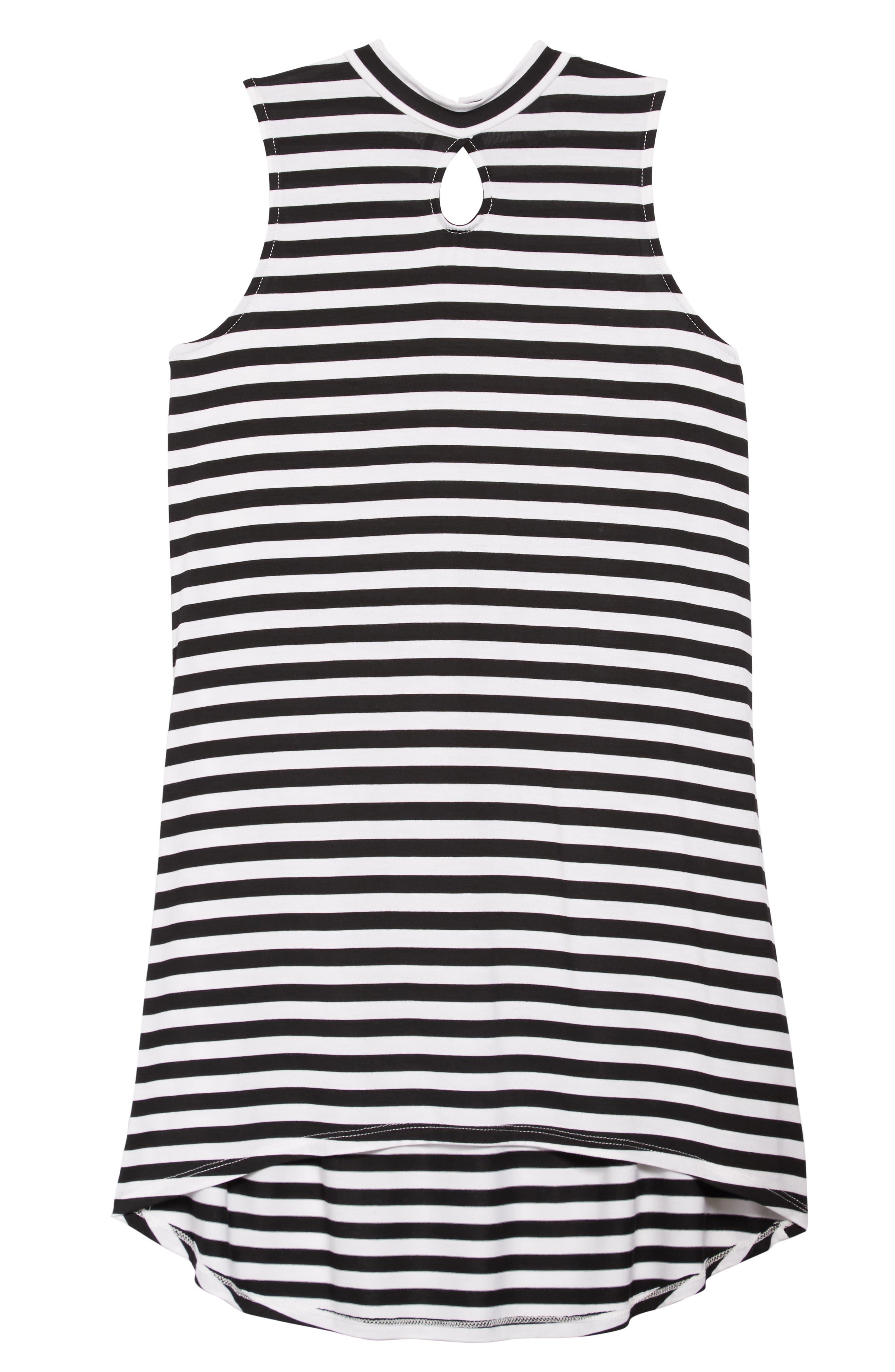 Keyhole Mock Neck Dress,                             Main thumbnail 1, color,                             001