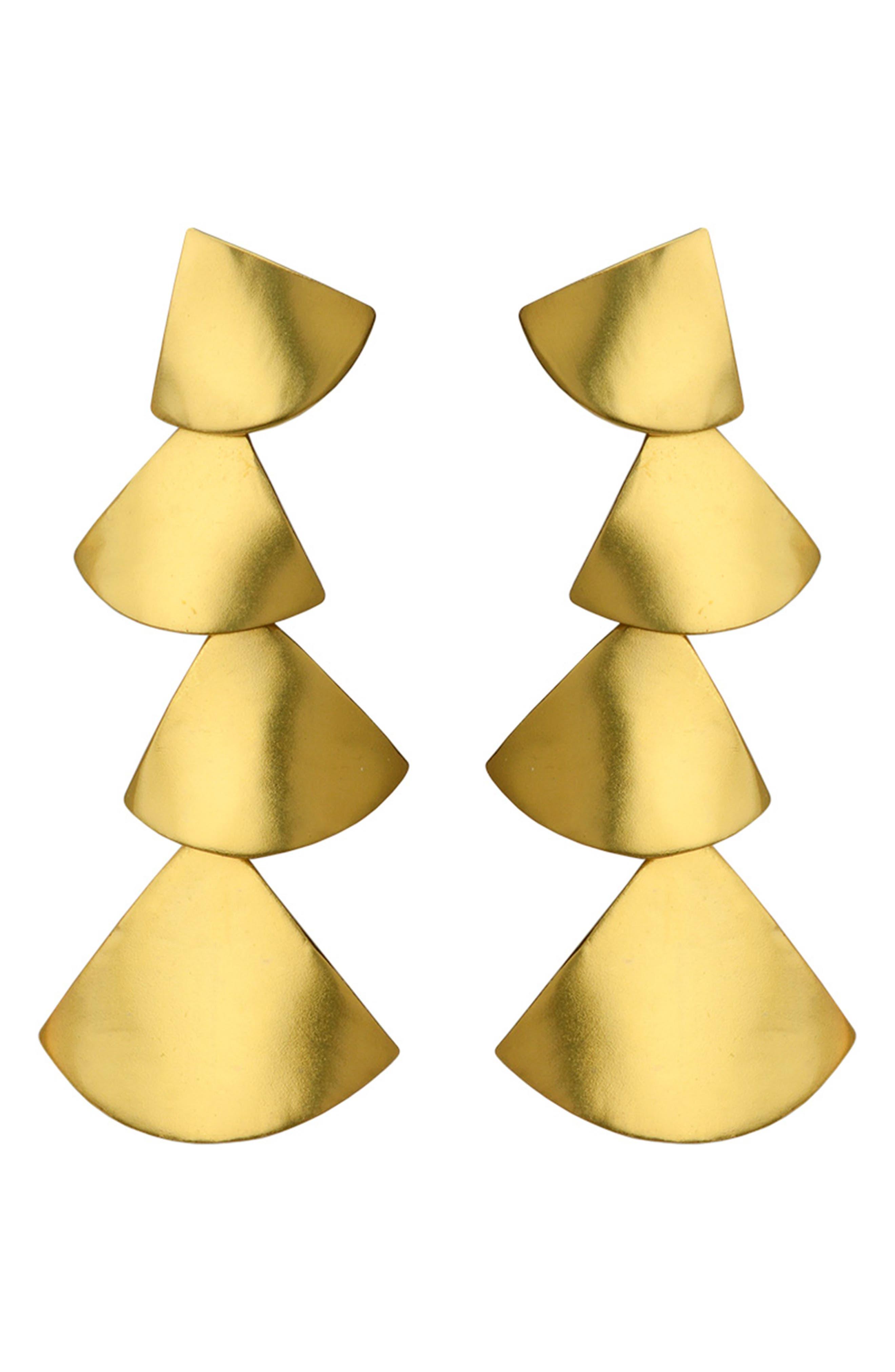 Queen Drop Earrings,                             Main thumbnail 1, color,                             BRASS