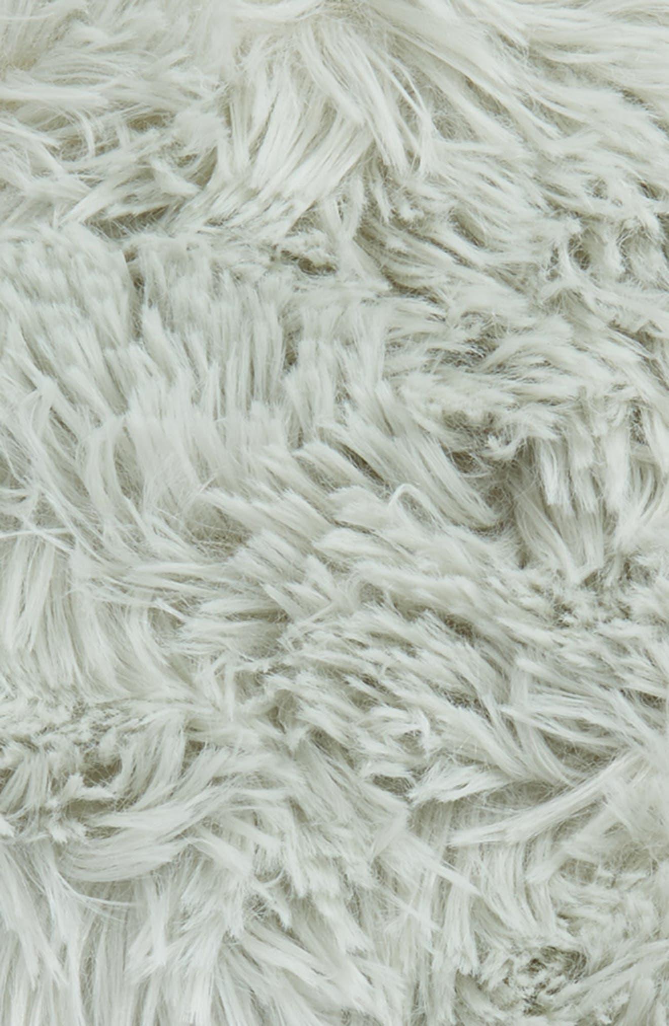Feather Faux Fur Pillow,                             Alternate thumbnail 18, color,
