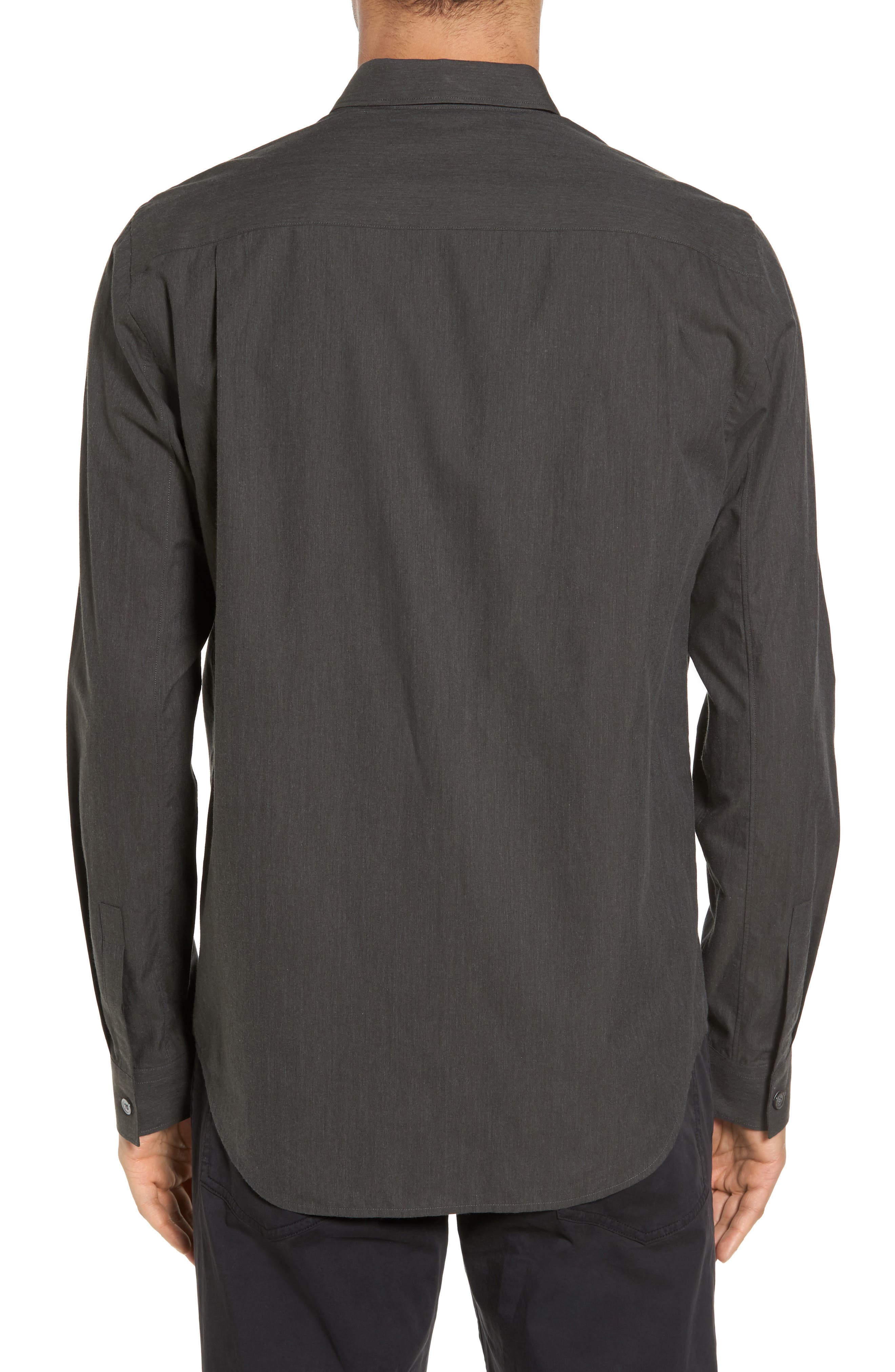 Rammy Trim Fit Solid Sport Shirt,                             Alternate thumbnail 2, color,                             381