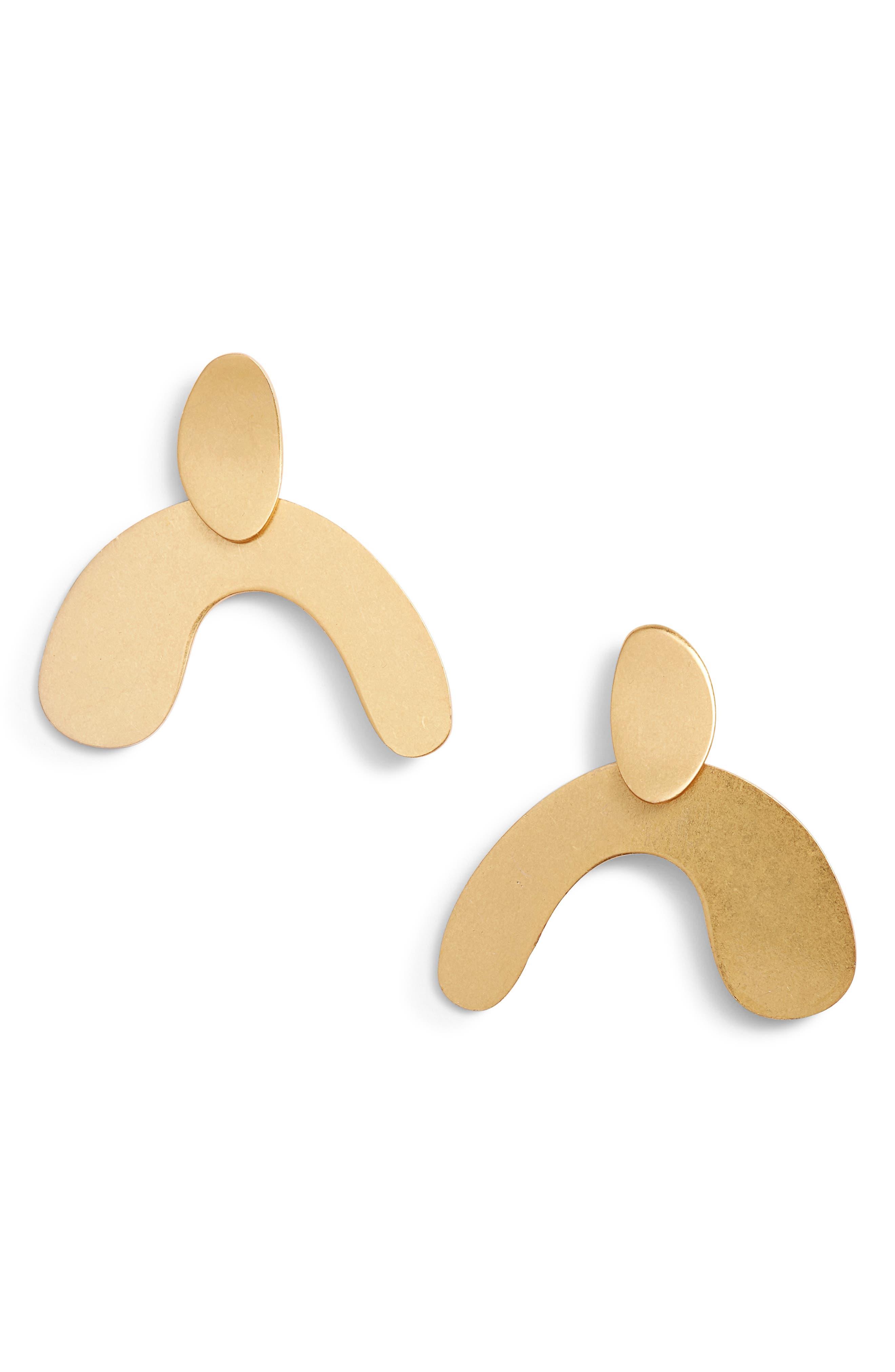 Organic Shape Earrings,                             Main thumbnail 1, color,                             710