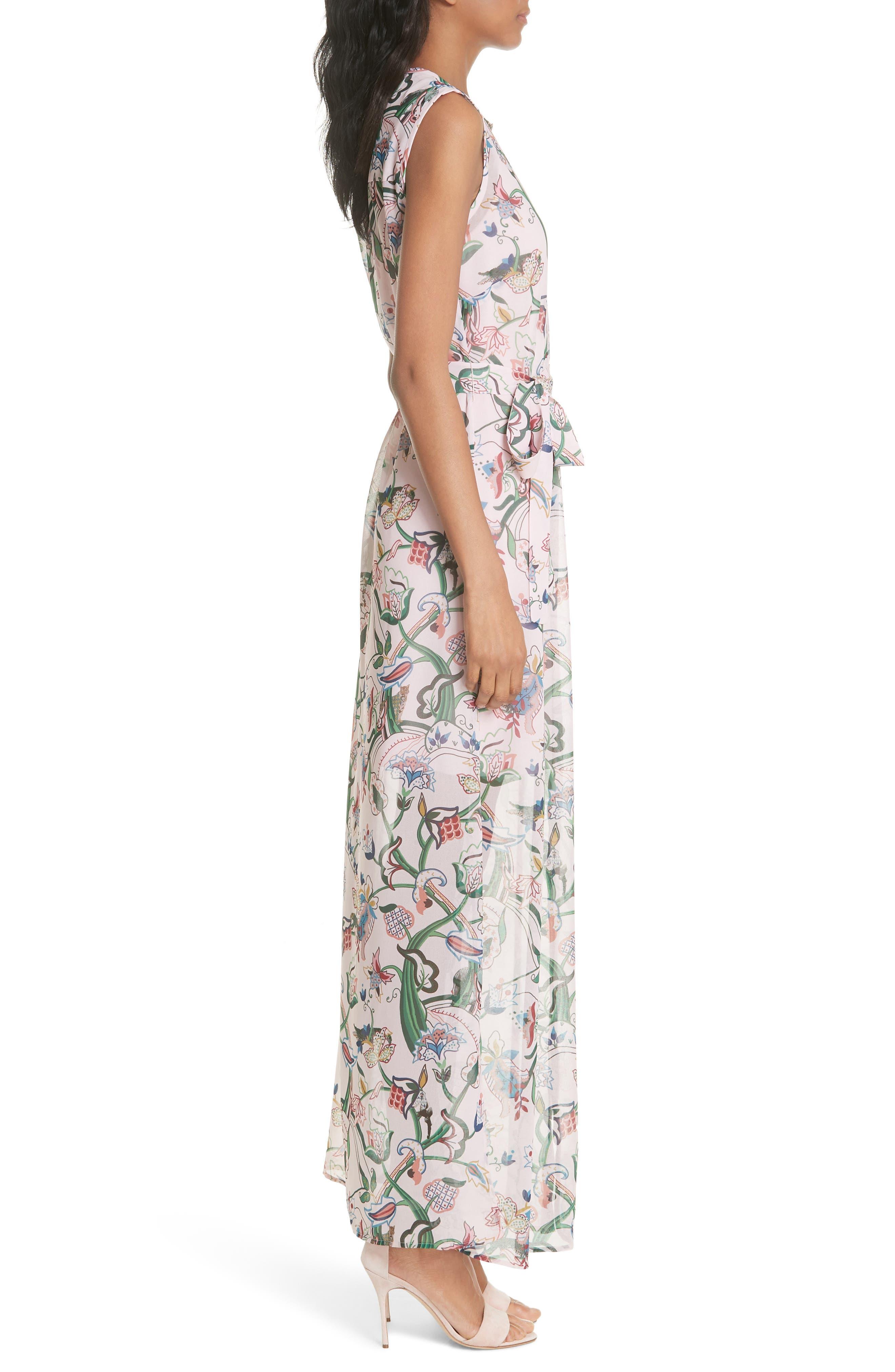 Susien Jungle Print Maxi Dress,                             Alternate thumbnail 3, color,