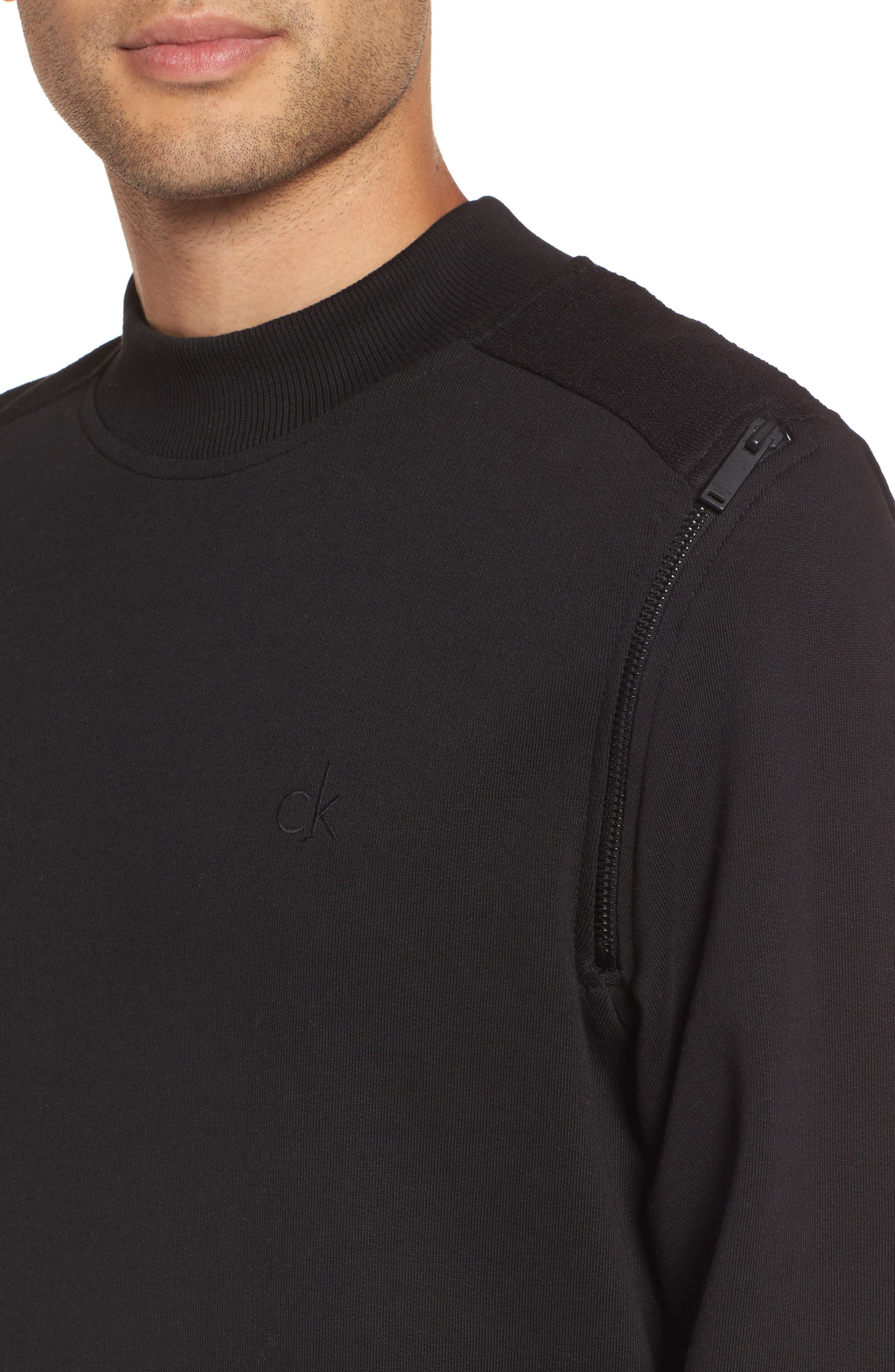 Zip Shoulder Sweatshirt,                             Alternate thumbnail 4, color,                             010