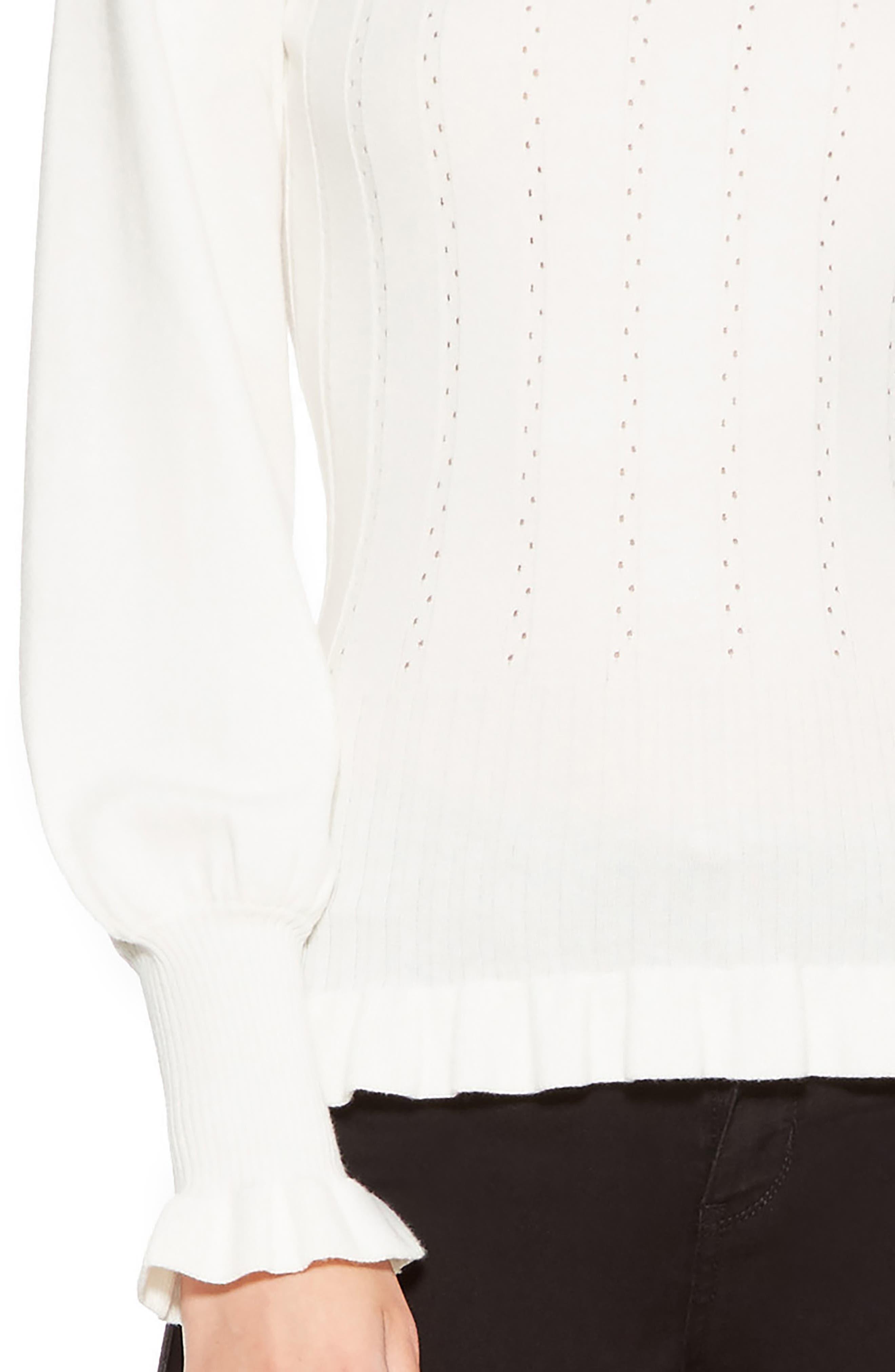 PARKER,                             Henri Blouson Sleeve Sweater,                             Alternate thumbnail 4, color,                             900