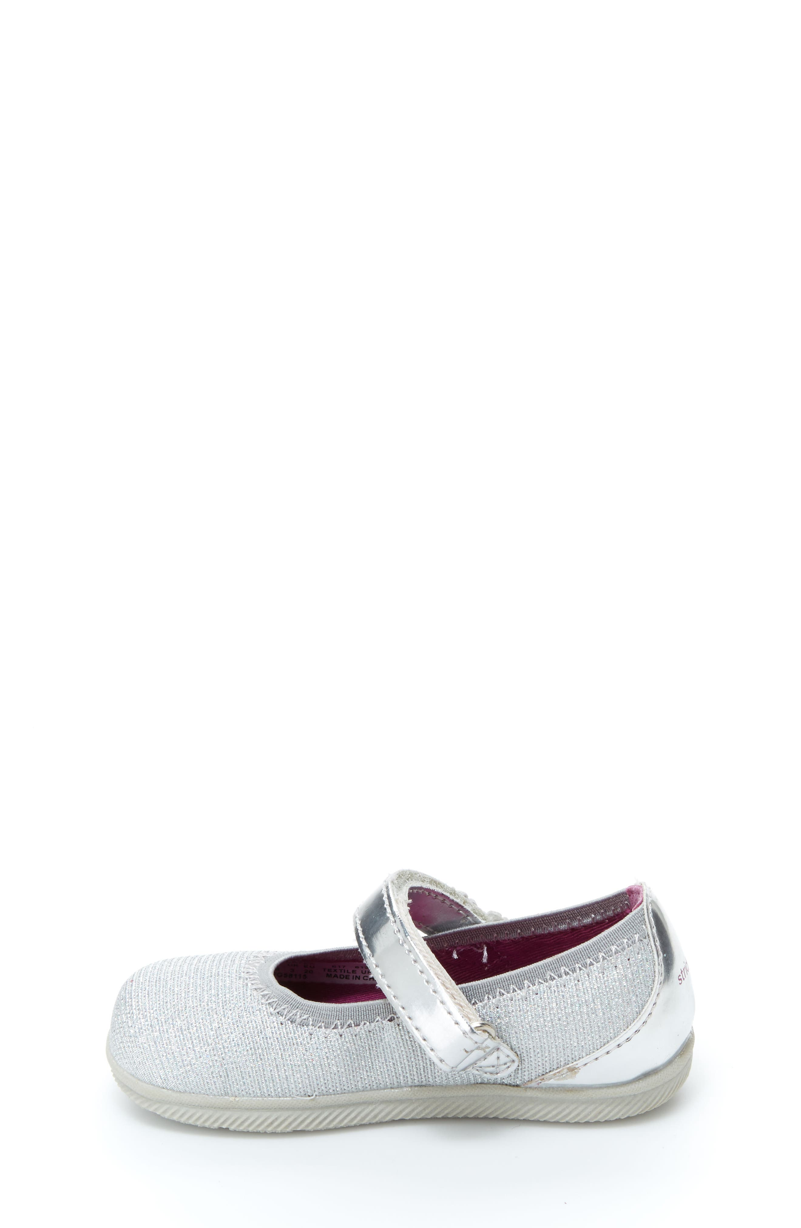 Lil Layla Mary Jane Flat,                             Alternate thumbnail 7, color,                             SILVER