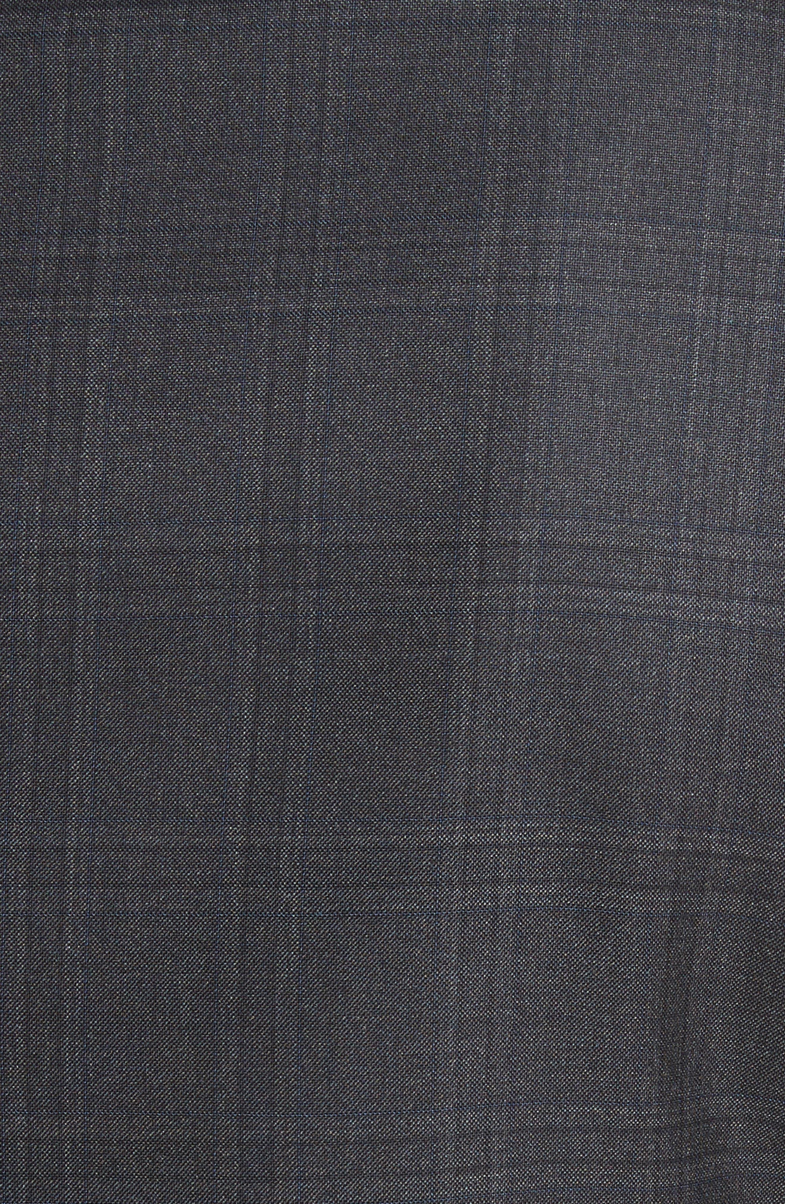 G-Line Trim Fit Plaid Wool Suit,                             Alternate thumbnail 7, color,                             017
