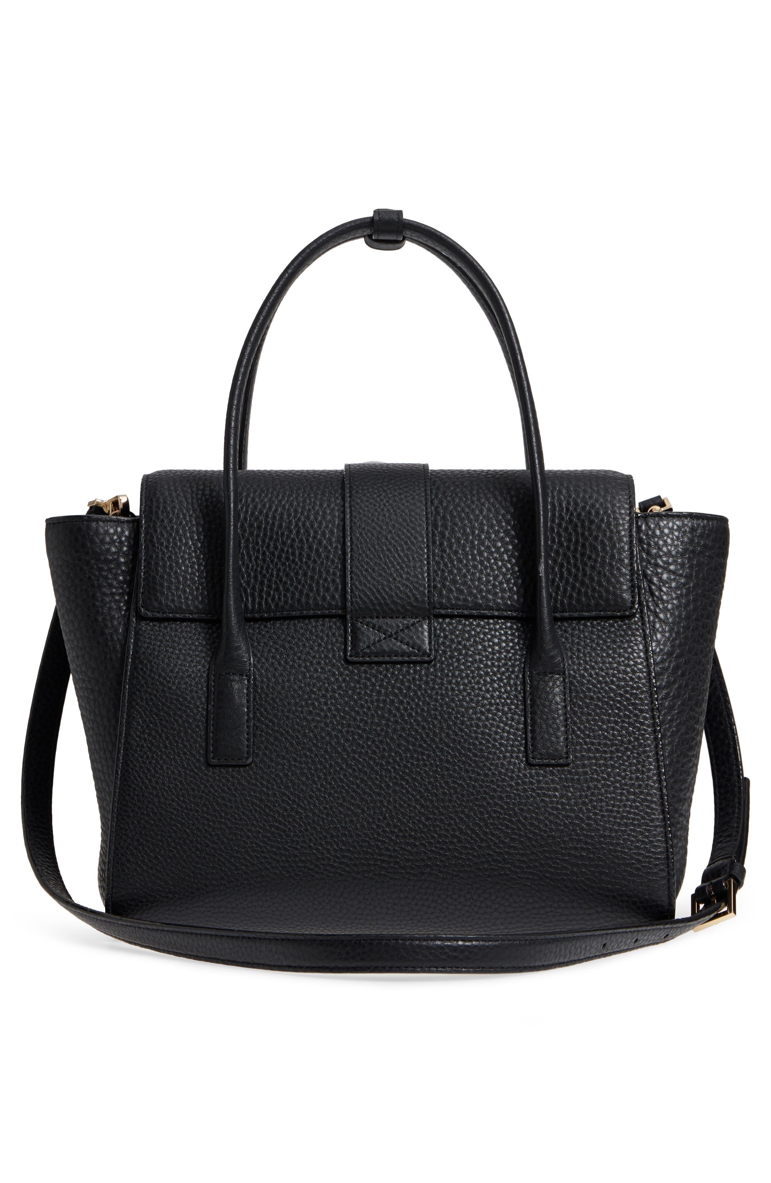 carlyle street - alexa leather satchel,                             Alternate thumbnail 5, color,