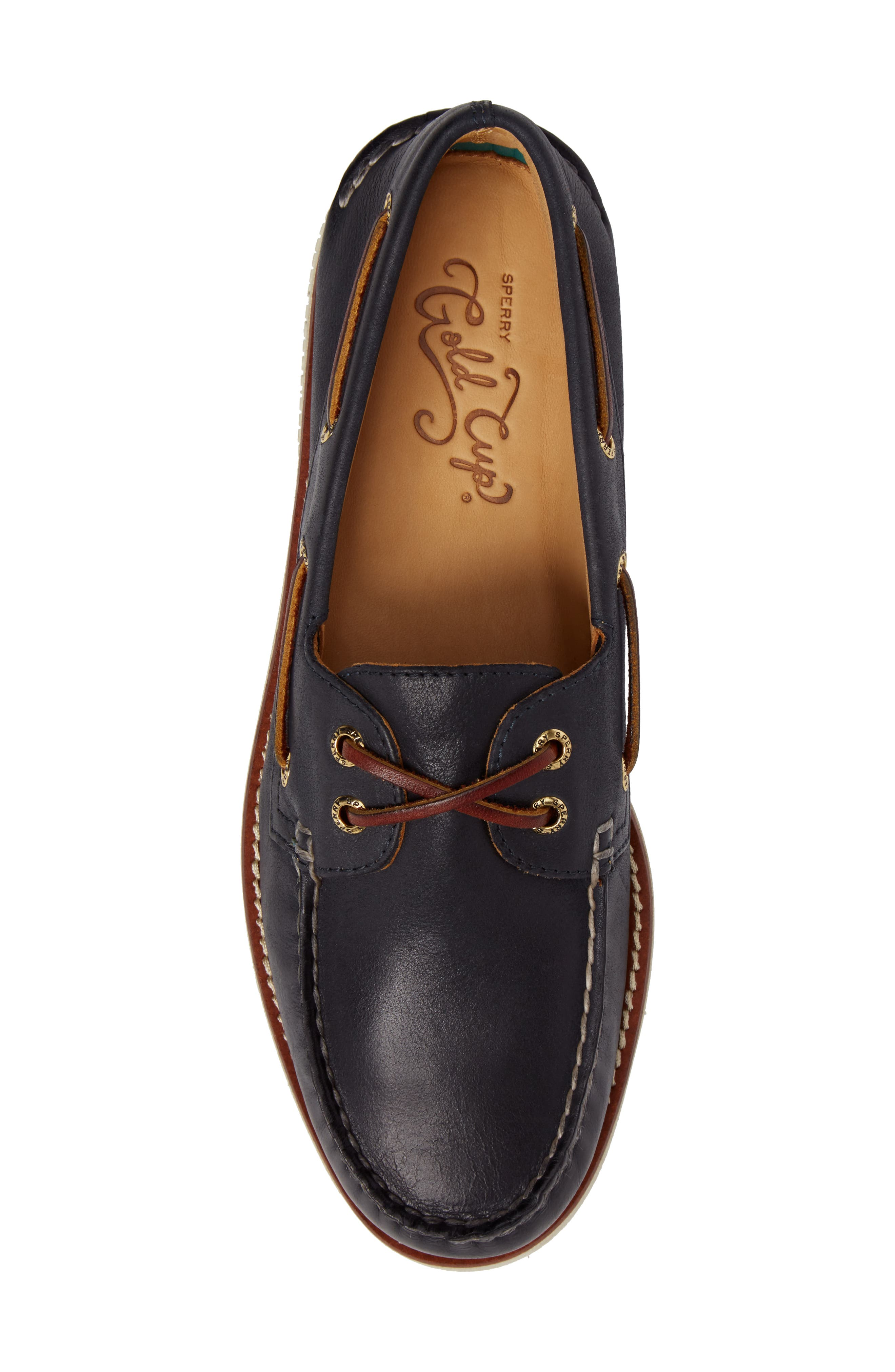 'Gold Cup - Authentic Original' Boat Shoe,                             Alternate thumbnail 5, color,                             NAVY LEATHER