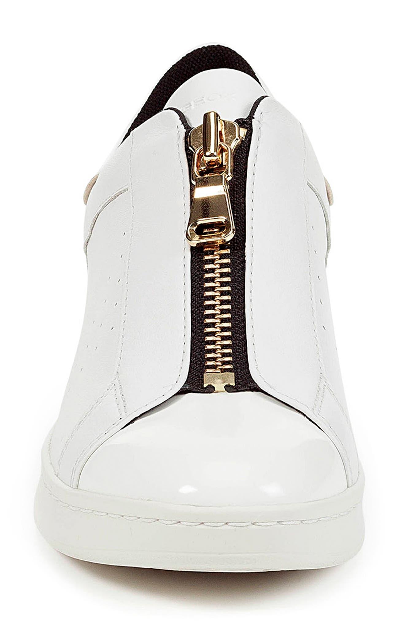 Jaysen Sneaker,                             Alternate thumbnail 4, color,                             WHITE LEATHER