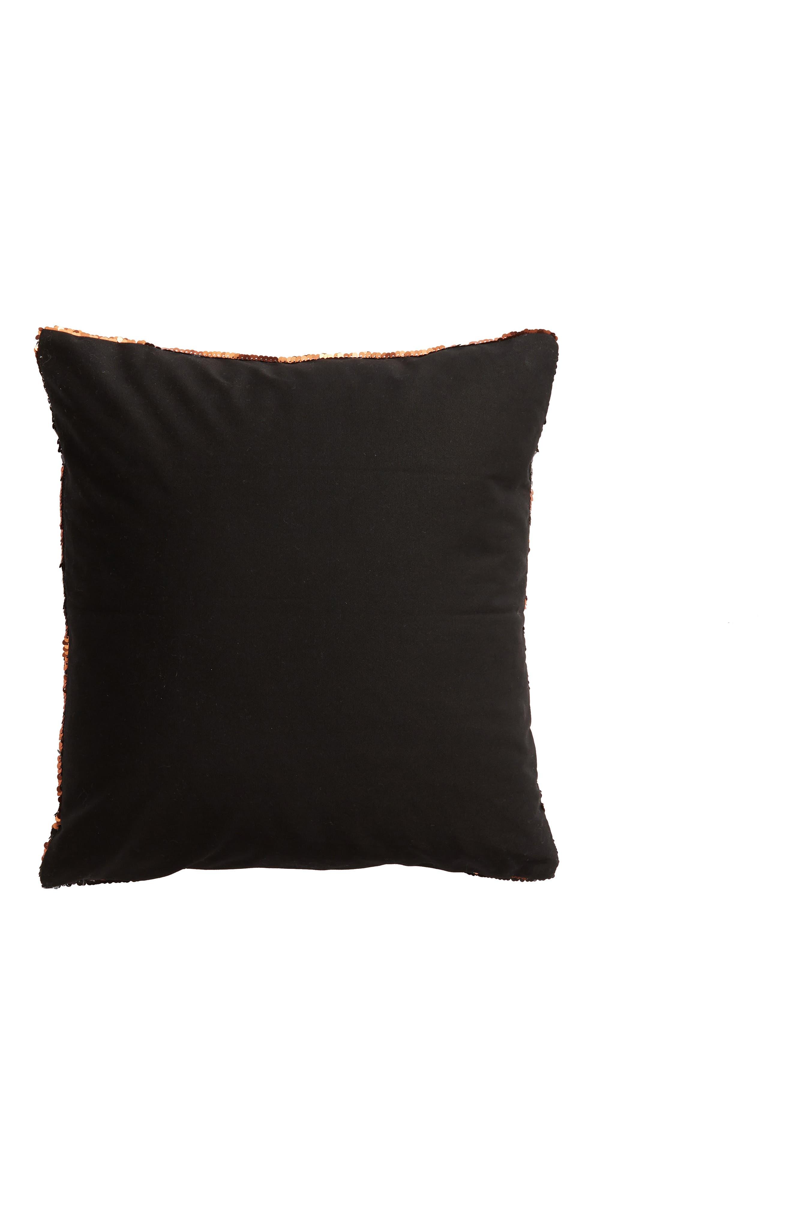 Pumpkin Sequin Accent Pillow,                             Alternate thumbnail 2, color,                             800