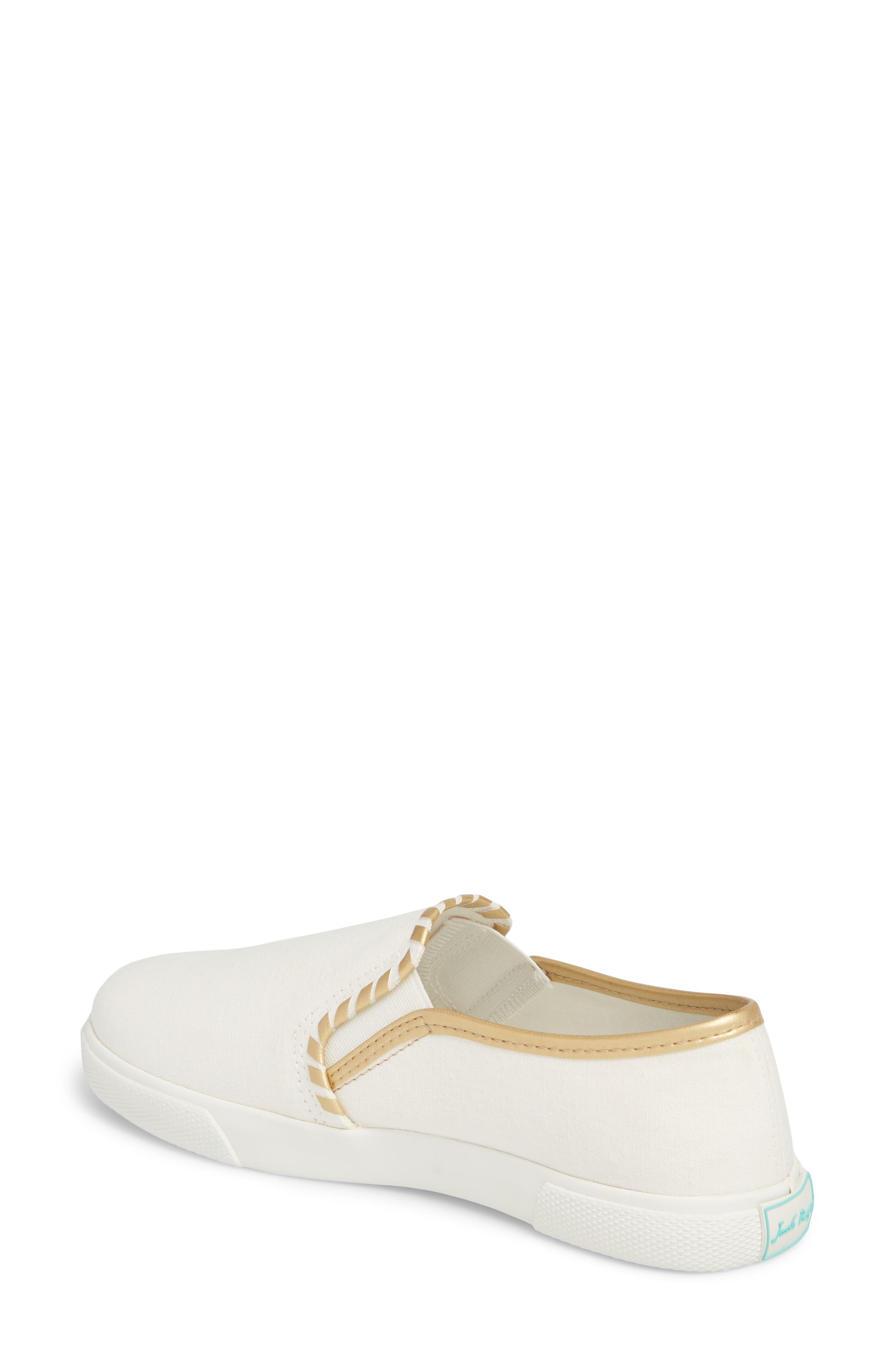 McKay Slip-On Sneaker,                             Alternate thumbnail 2, color,                             WHITE FABRIC