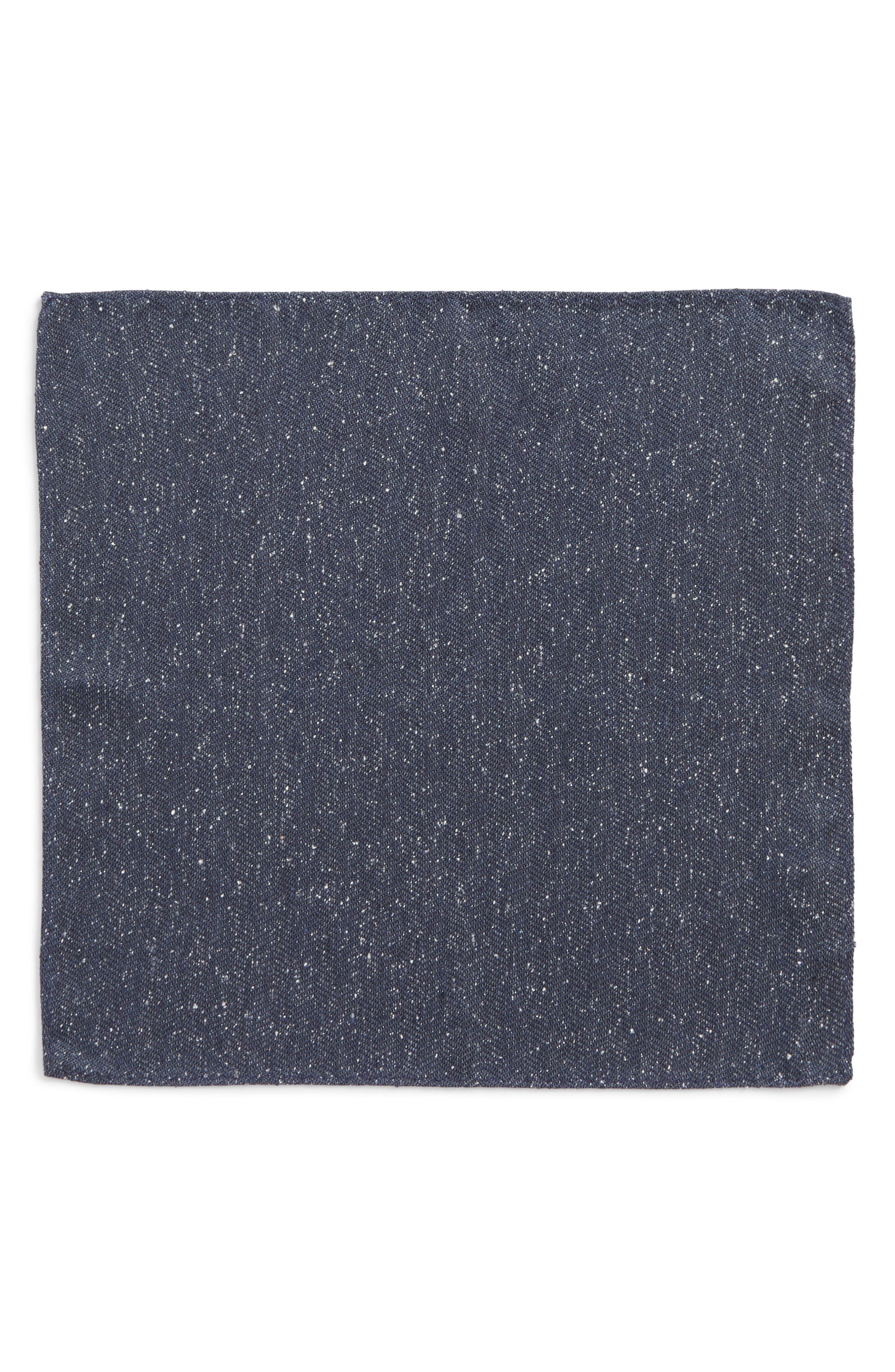 Threaded Zigzag Silk Pocket Square,                             Alternate thumbnail 5, color,