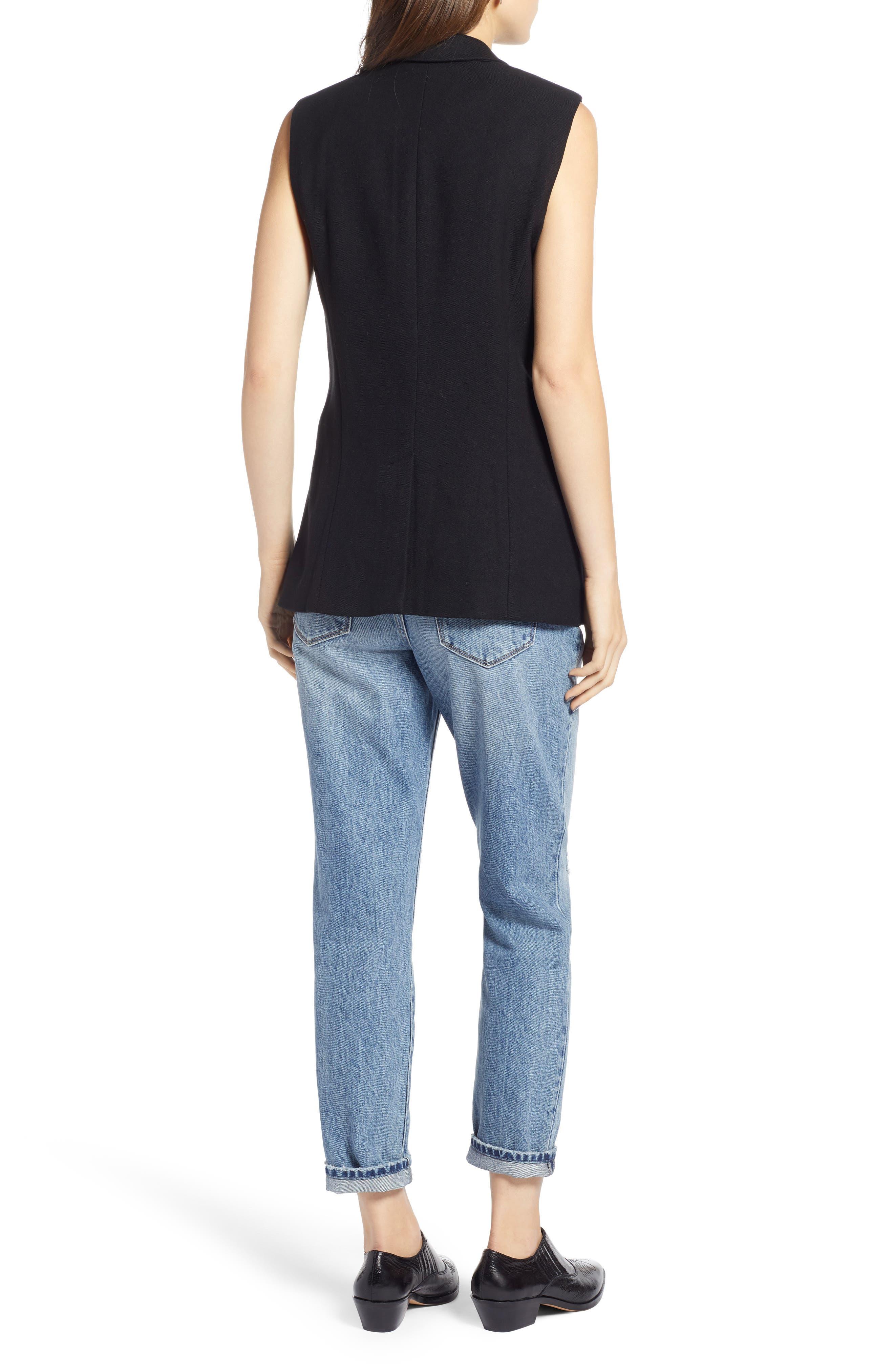 Menswear Vest,                             Alternate thumbnail 2, color,                             BLACK