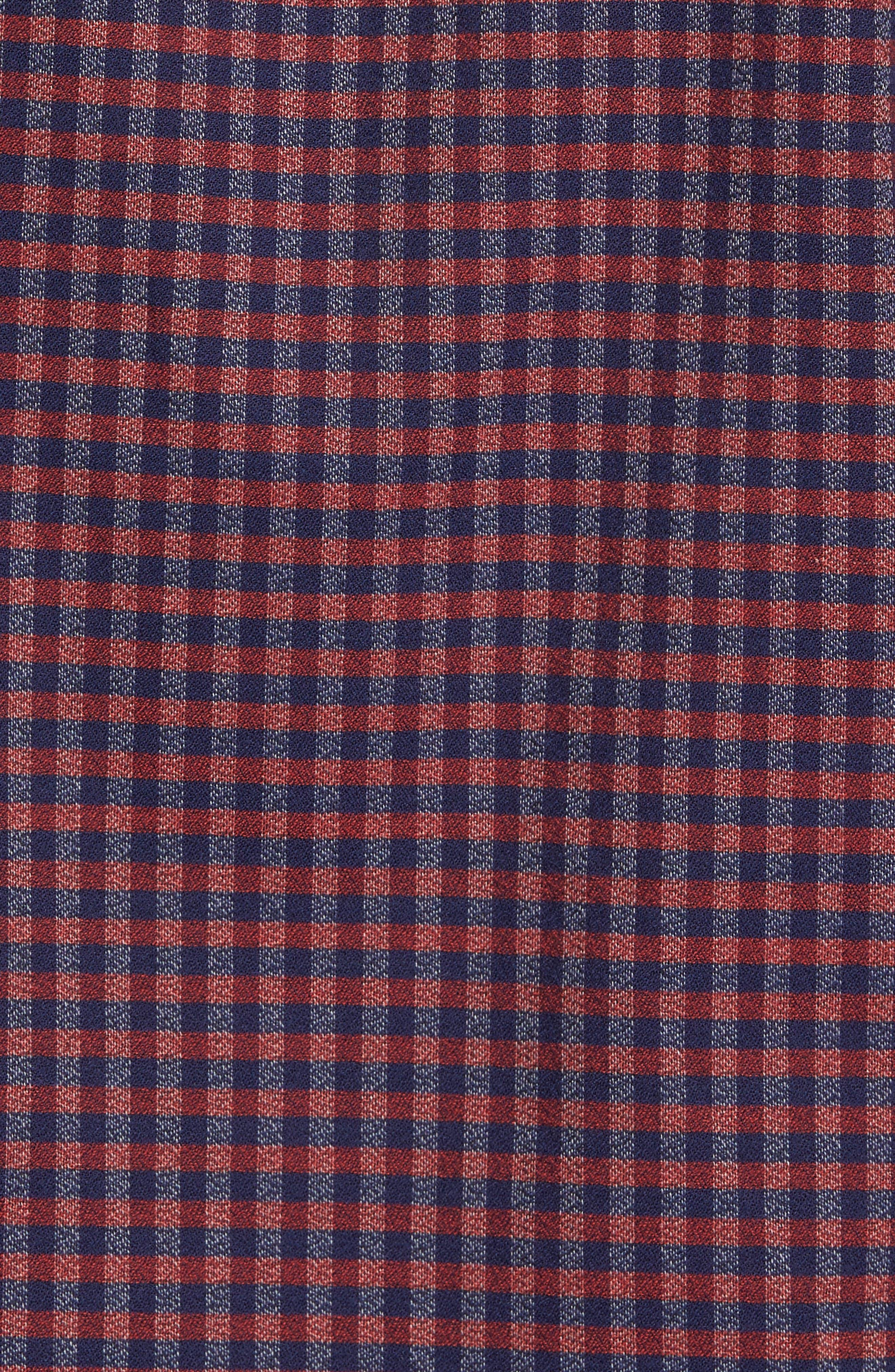 Slim Fit Check Sport Shirt,                             Alternate thumbnail 5, color,                             600