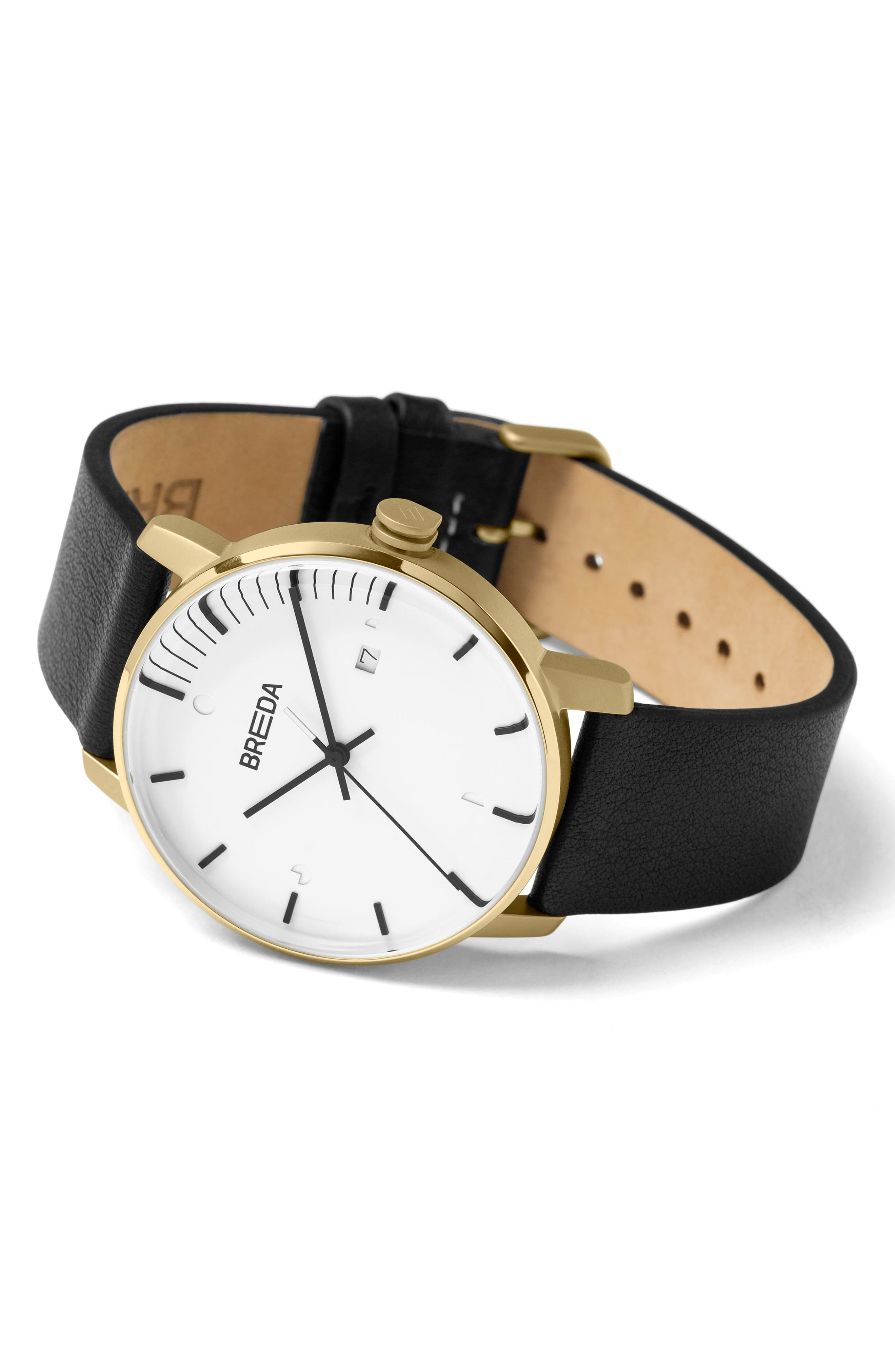 Phase Leather Strap Watch, 39mm,                             Alternate thumbnail 2, color,                             001