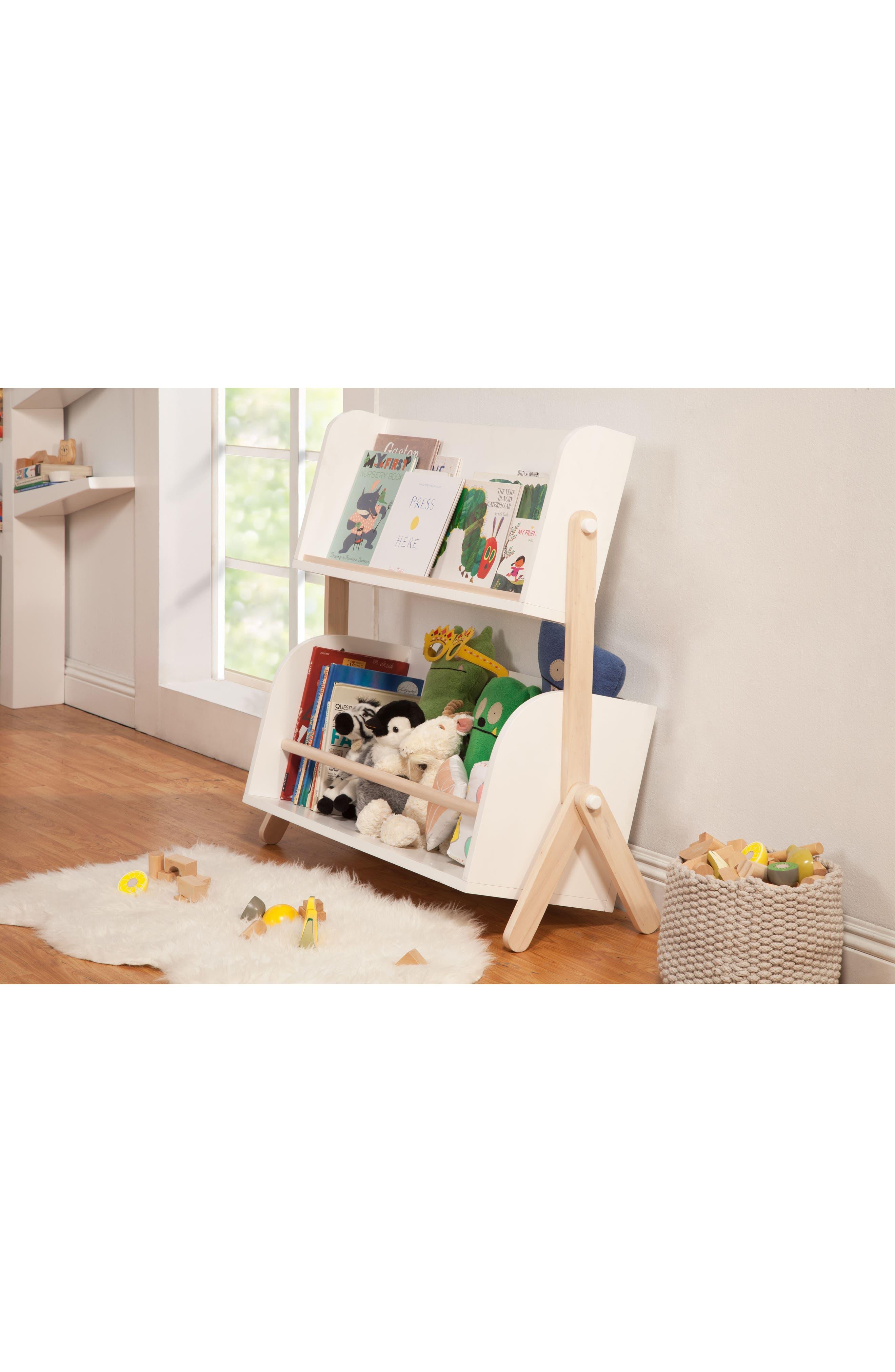 Tally Storage Bookshelf,                             Alternate thumbnail 4, color,                             WHITE/ NATURAL