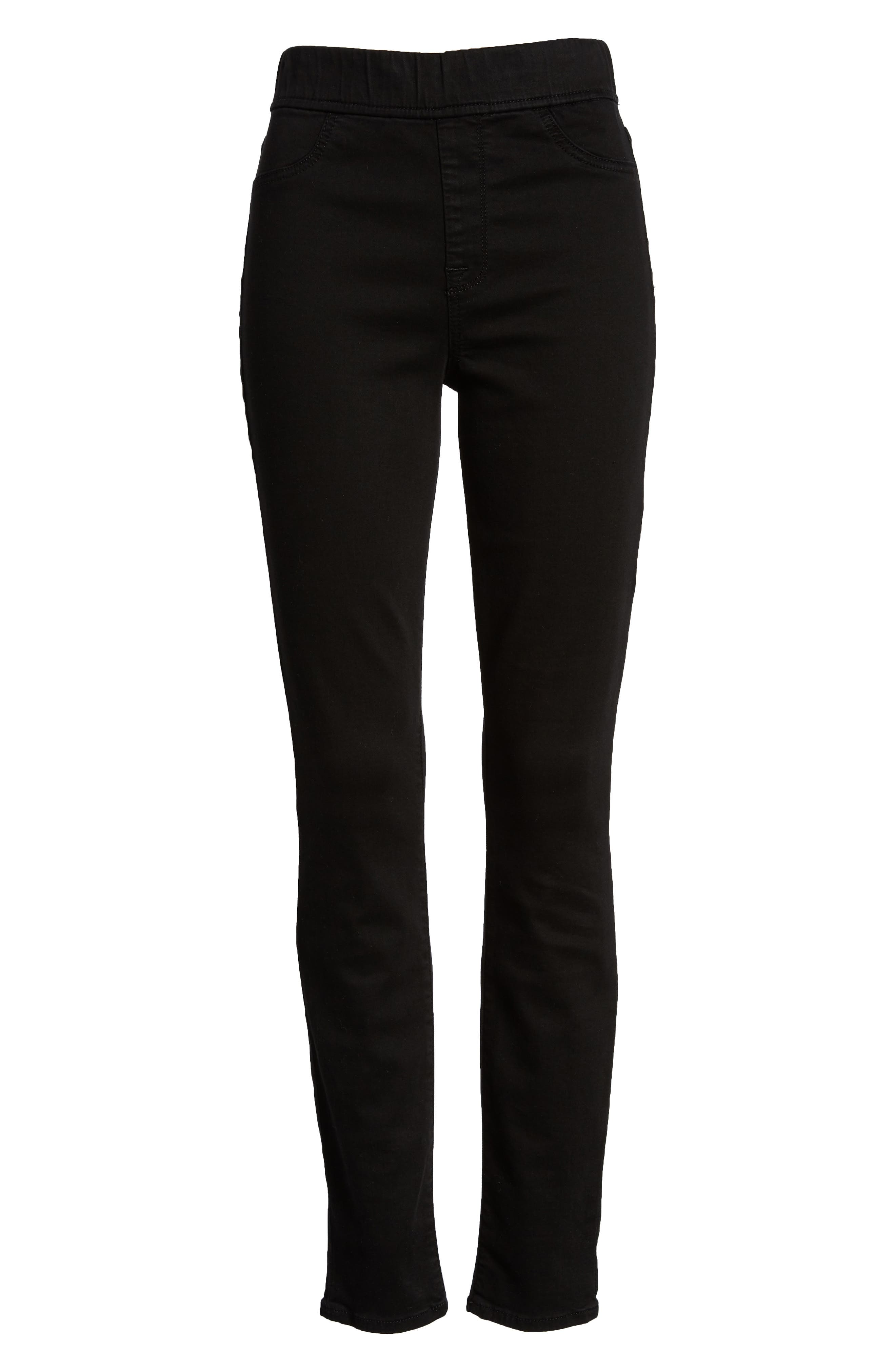 Comfort Skinny Denim Leggings,                             Alternate thumbnail 7, color,                             RICHE TOUCH BLACK NOIR